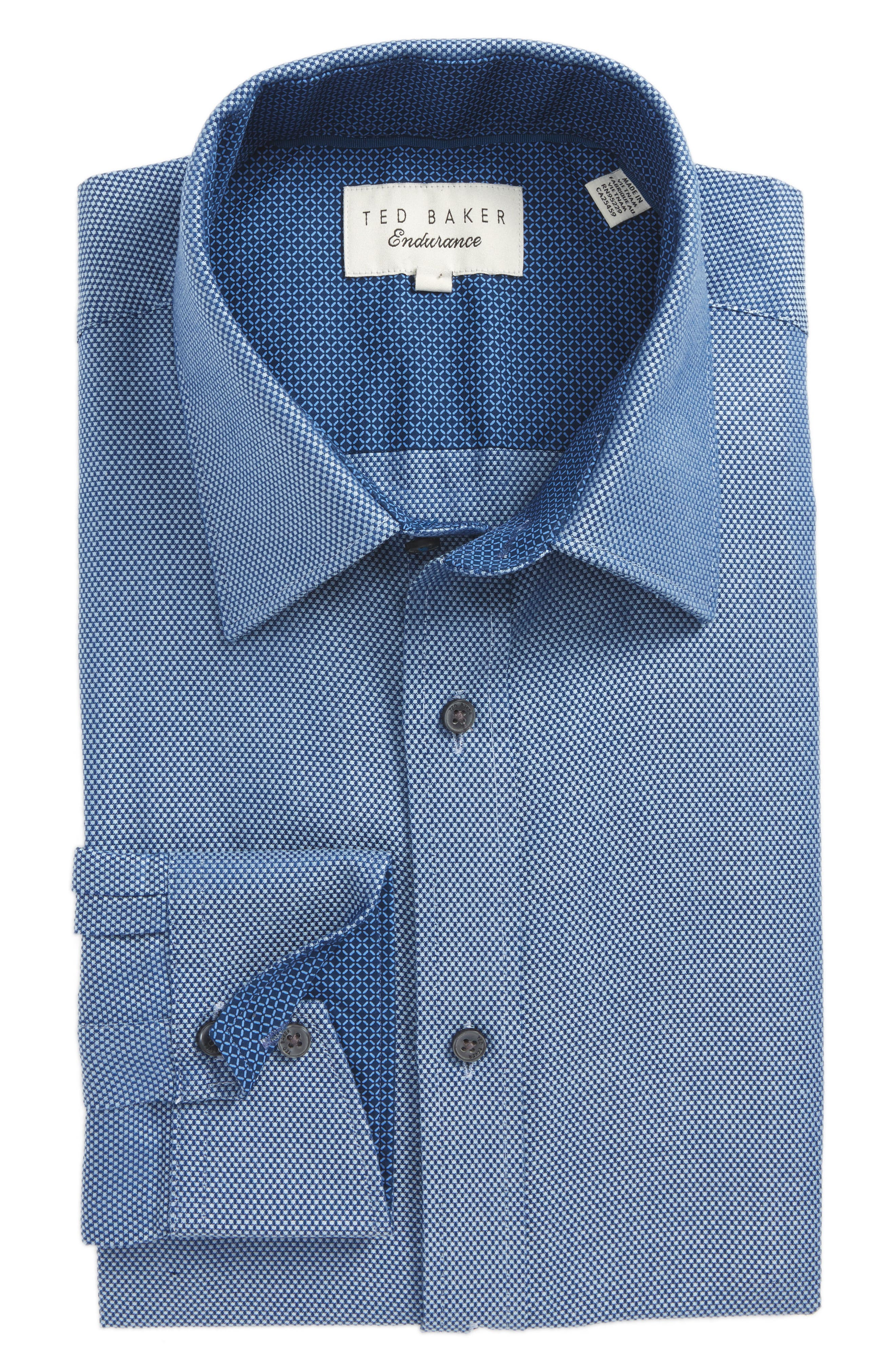 Endurance Trim Fit Dobby Dress Shirt,                         Main,                         color, 400
