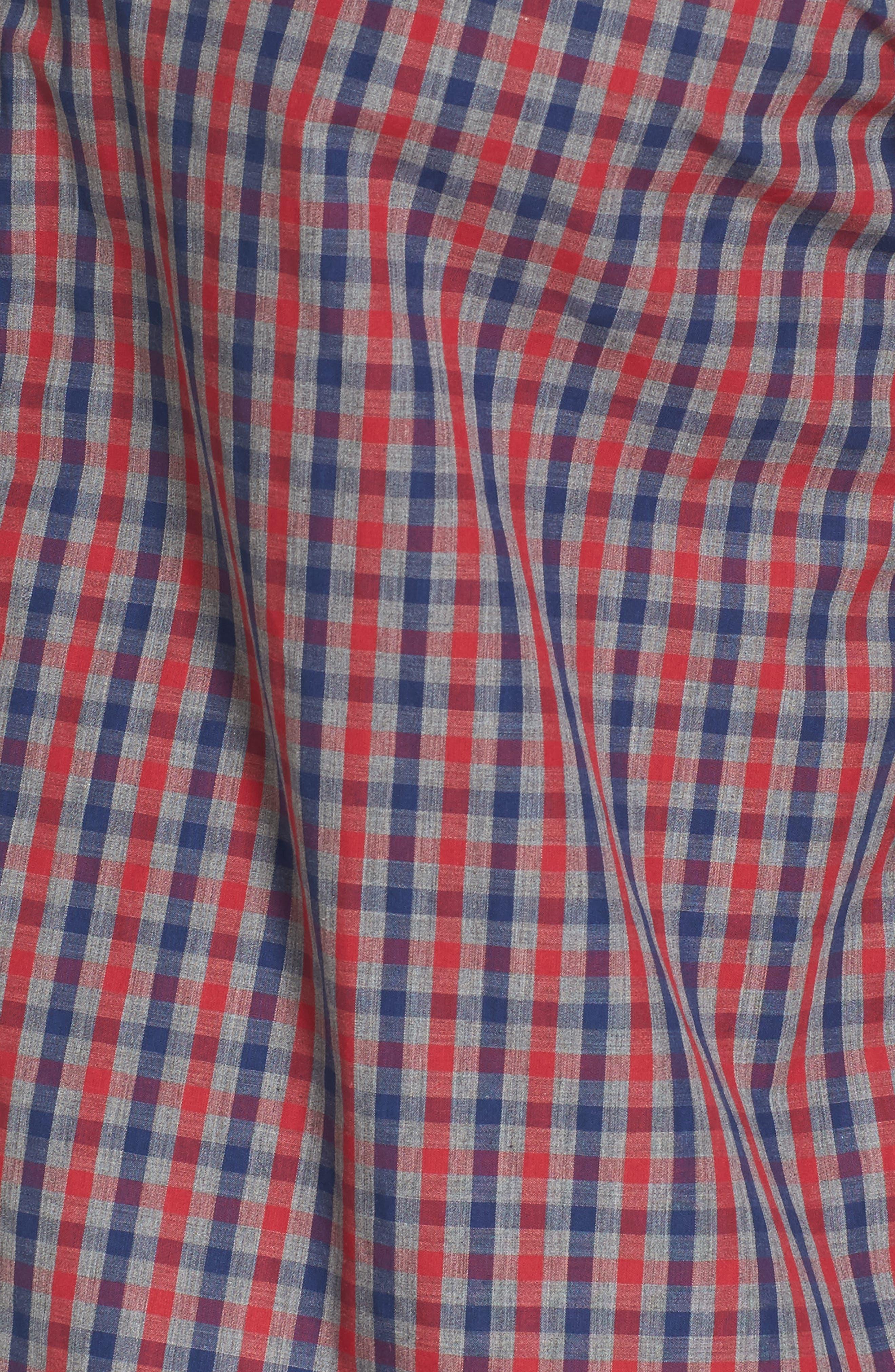 Comfort Fit Check Sport Shirt,                             Alternate thumbnail 5, color,