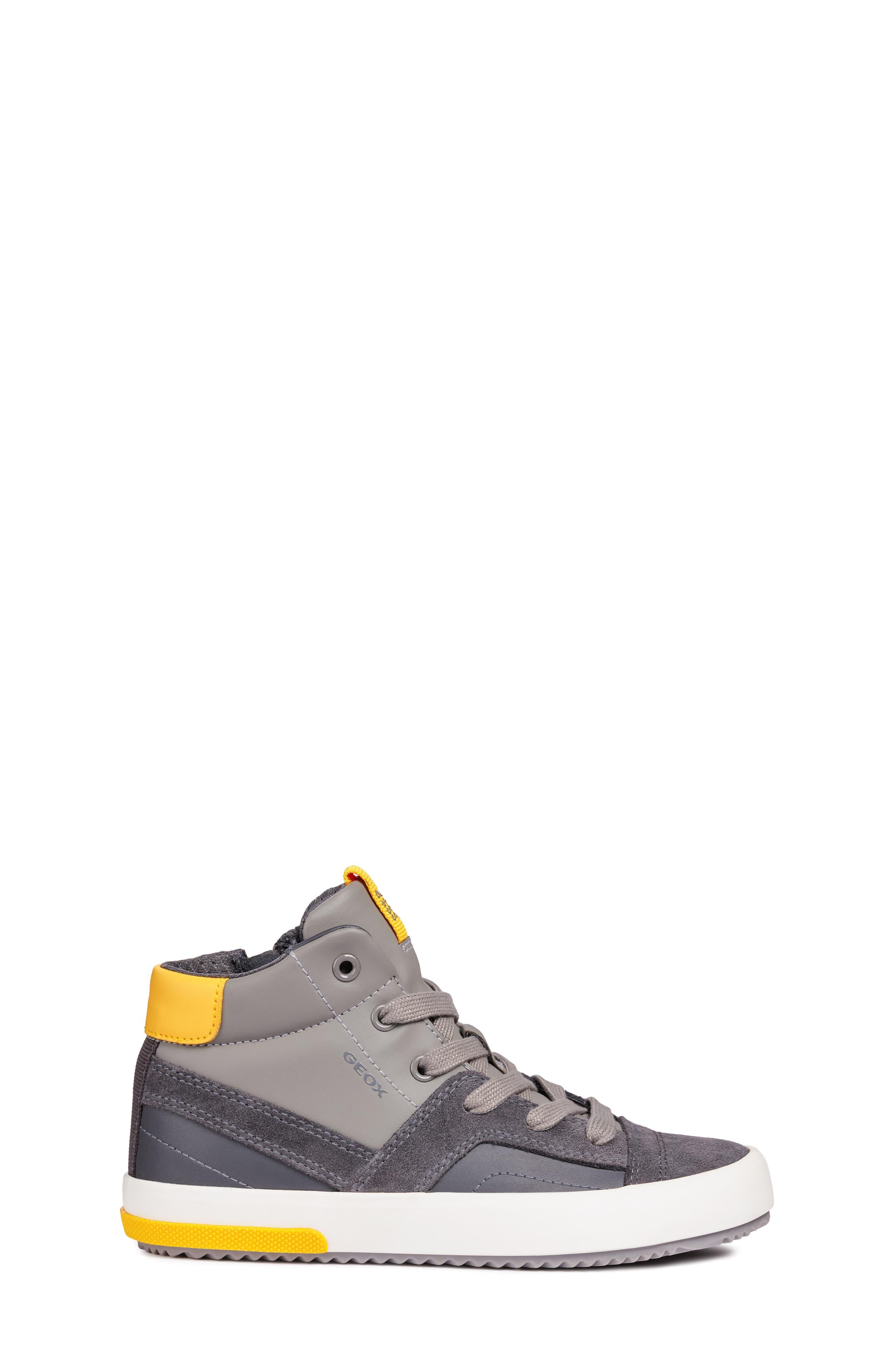 Alonisso 24 High Top Sneaker,                             Alternate thumbnail 3, color,                             DARK GREY/YELLOW