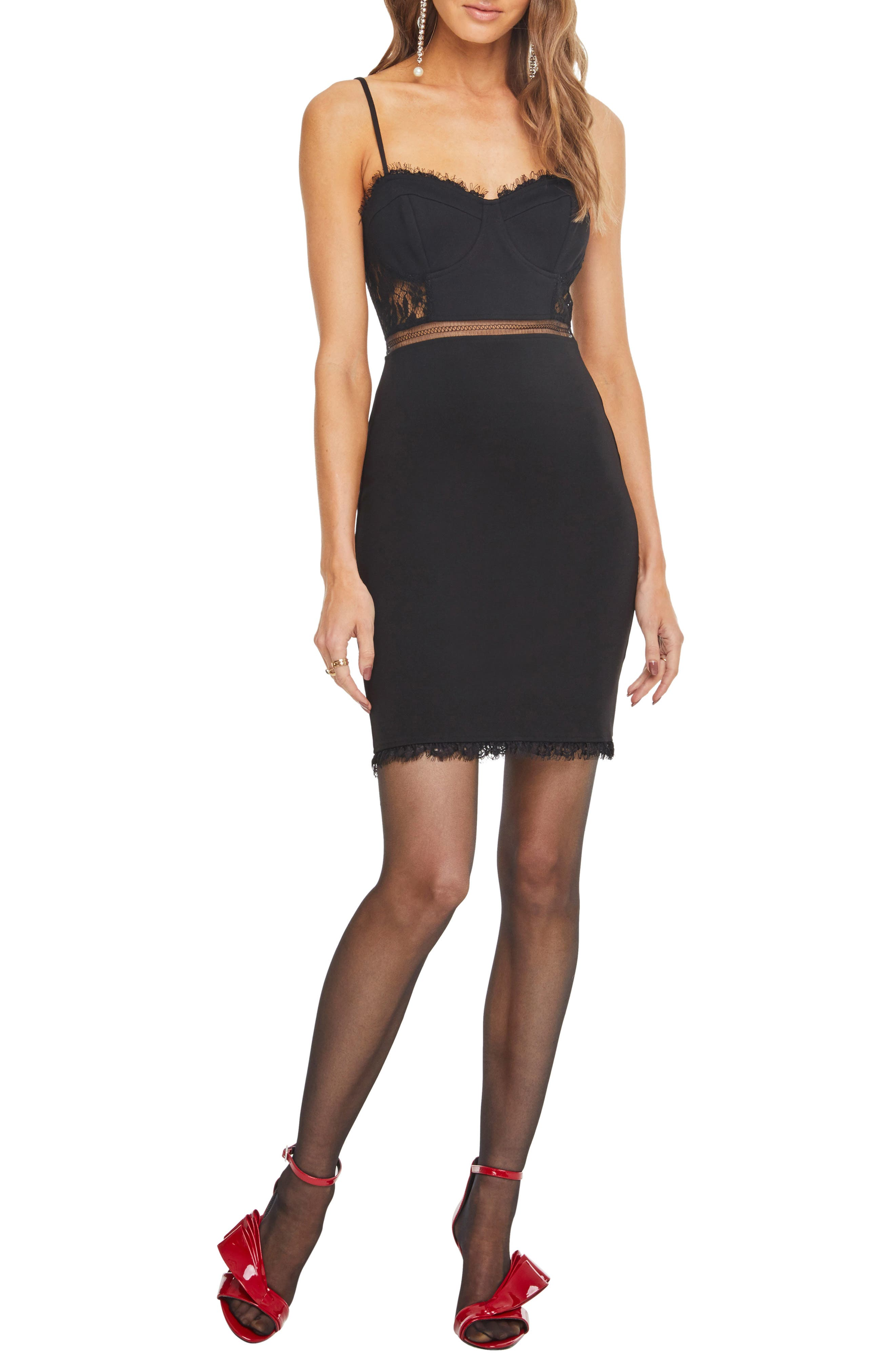 Astr The Label Dream On Dress, Black