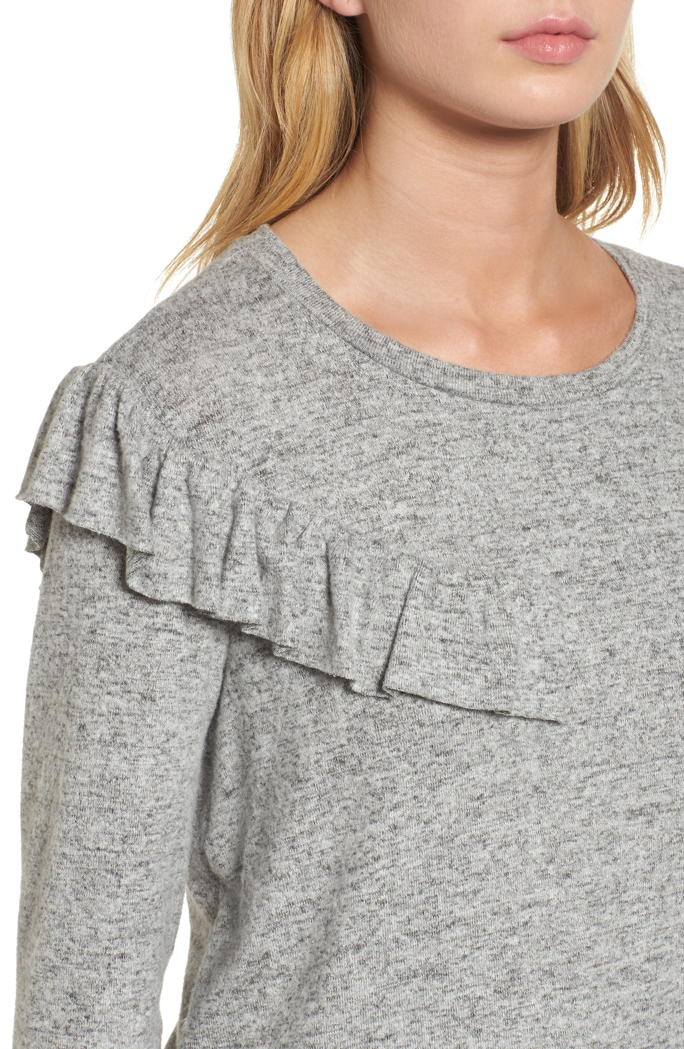 Ruffle Knit Top,                             Alternate thumbnail 8, color,