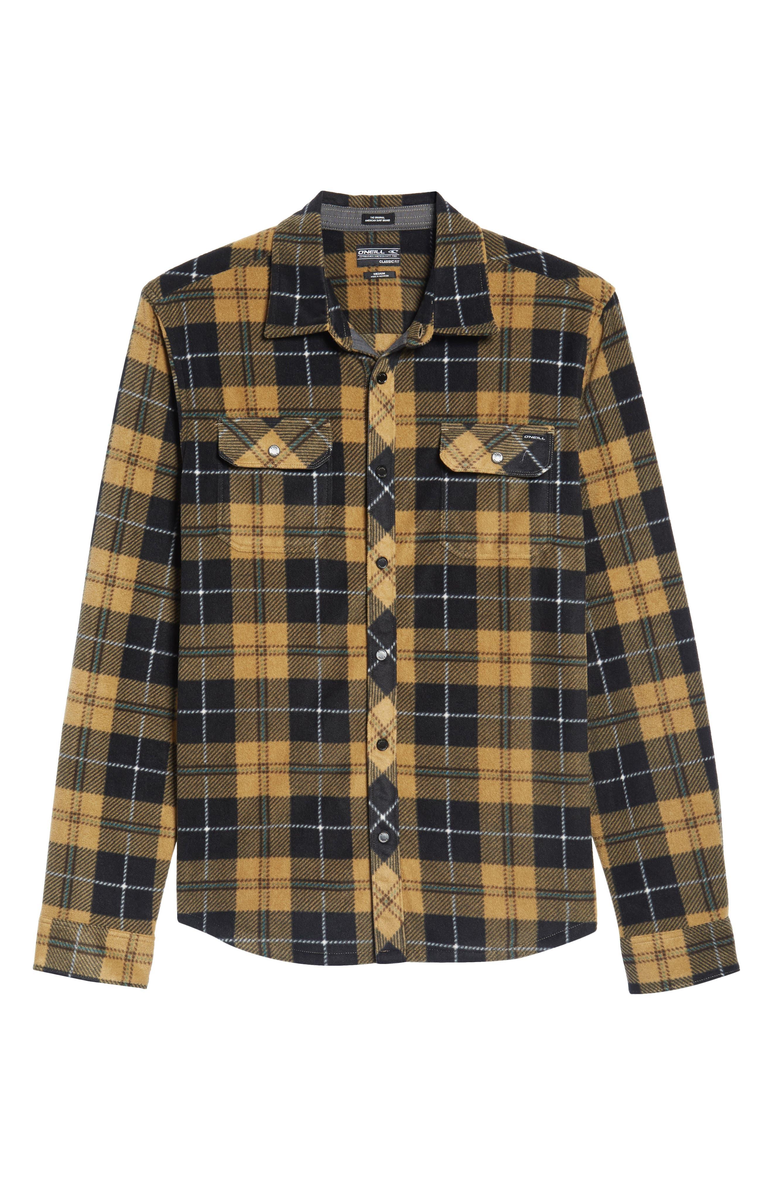 Glacier Plaid Fleece Flannel Shirt,                             Alternate thumbnail 26, color,
