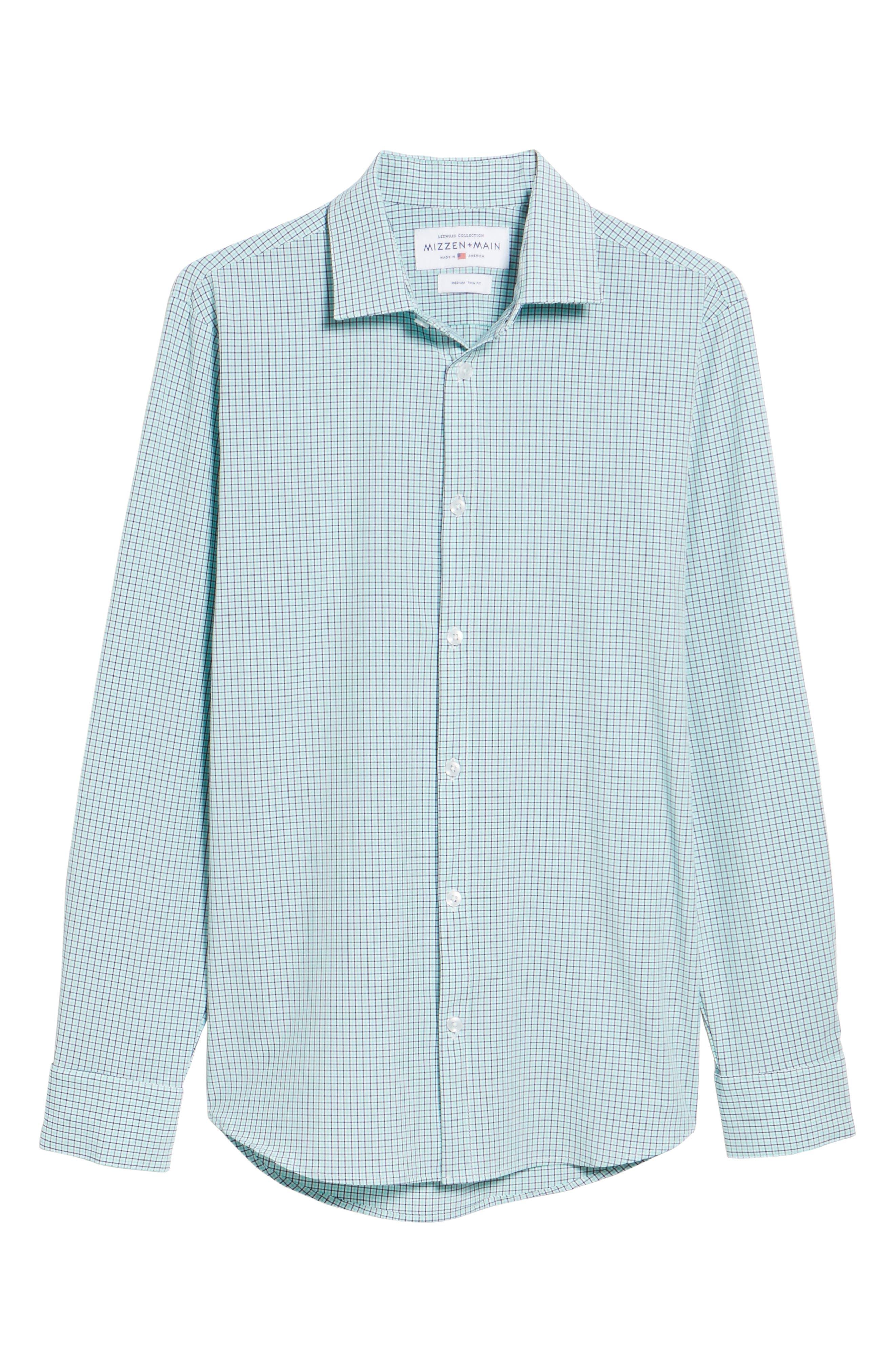 Ventura Check Sport Shirt,                             Alternate thumbnail 6, color,                             GREEN