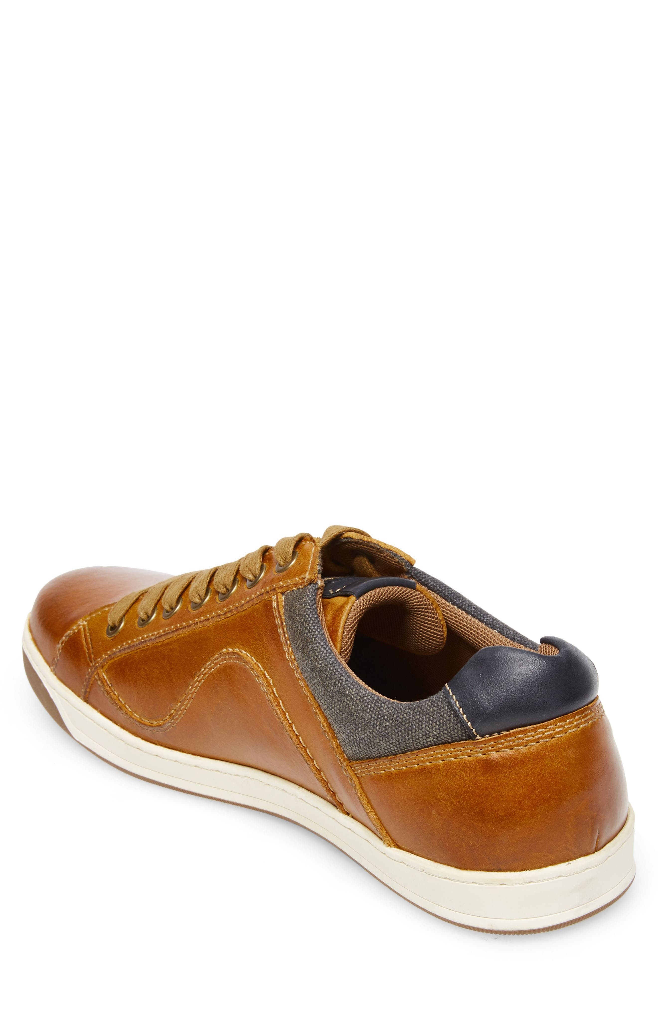 Chater Low Top Sneaker,                             Alternate thumbnail 2, color,                             RUST LEATHER