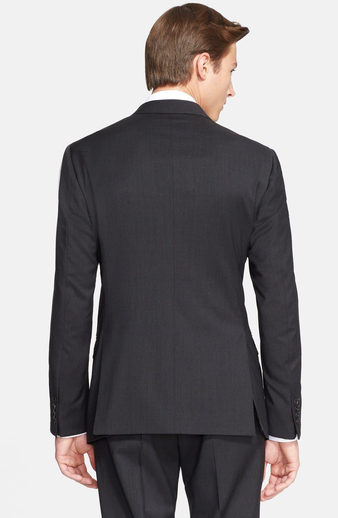 'G-Line' Trim Fit Solid Wool Suit,                             Alternate thumbnail 11, color,                             020