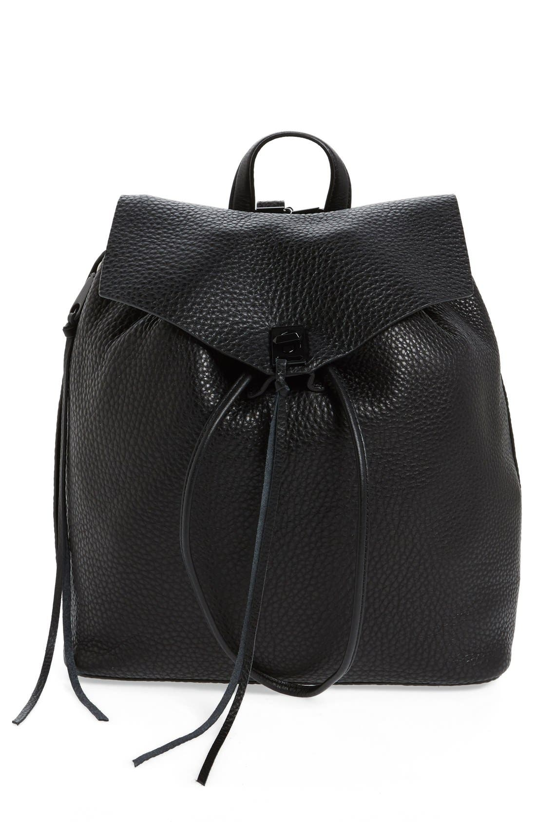 Darren Leather Backpack,                         Main,                         color, 001