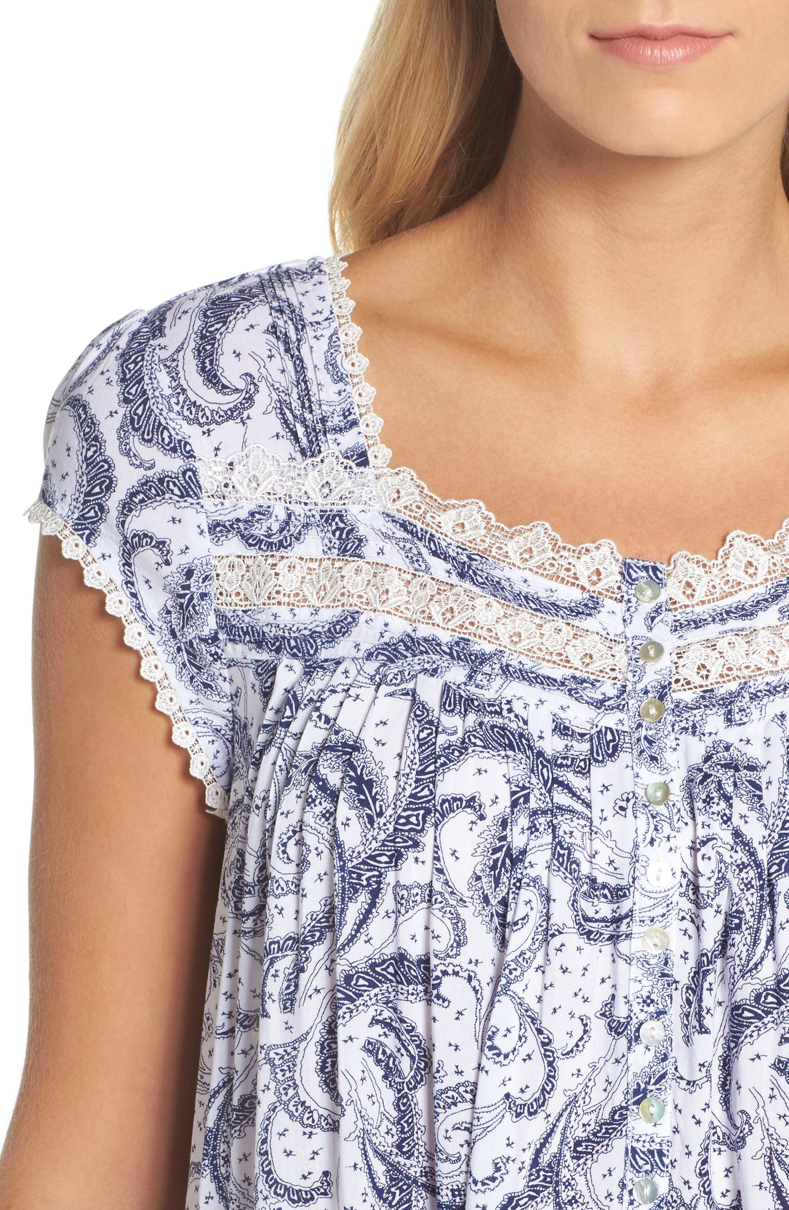 Short Nightgown,                             Alternate thumbnail 4, color,                             100