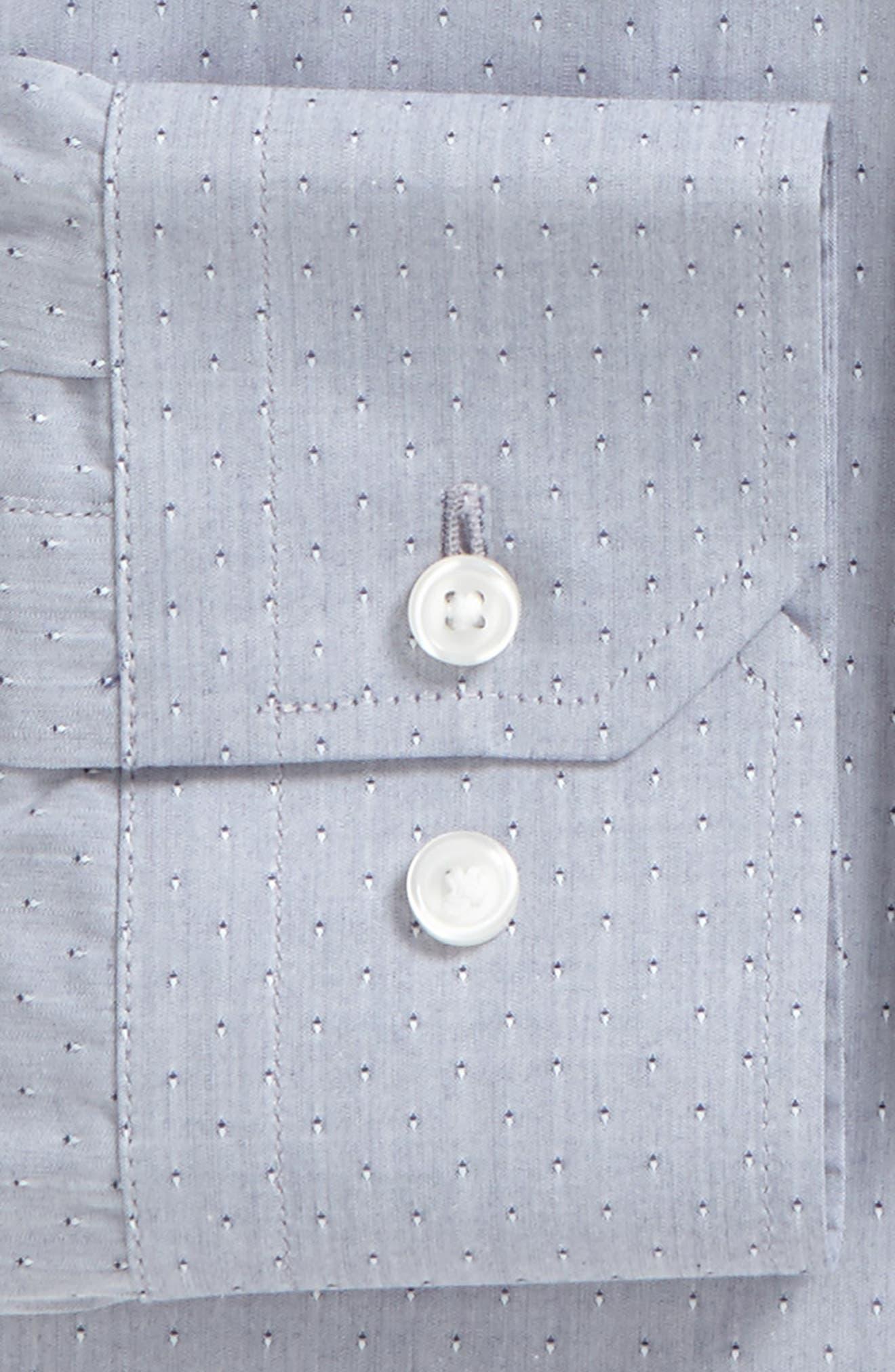 Trim Fit Dobby Dress Shirt,                             Alternate thumbnail 2, color,