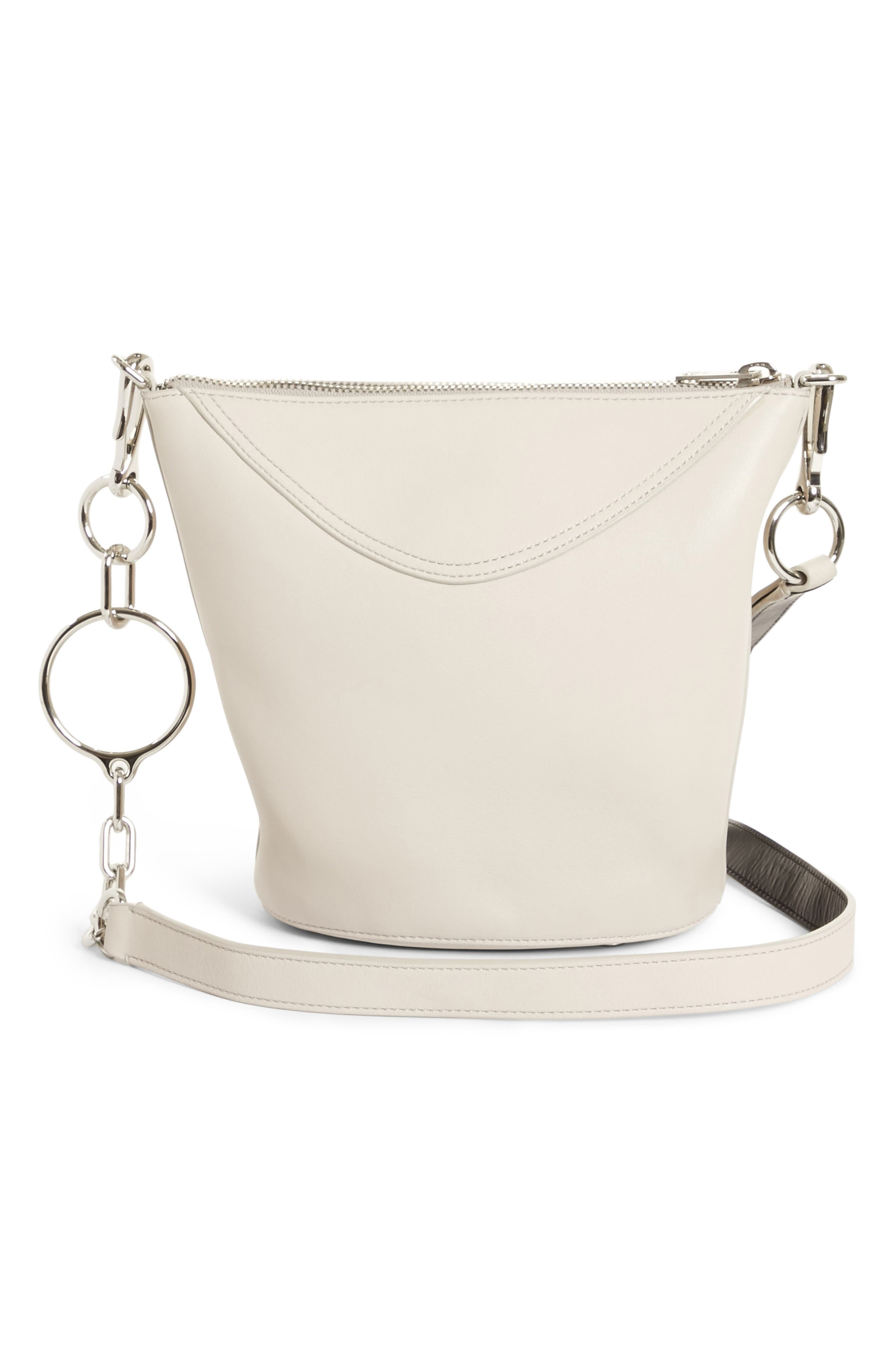 Ace Leather Bucket Bag,                             Main thumbnail 1, color,                             021