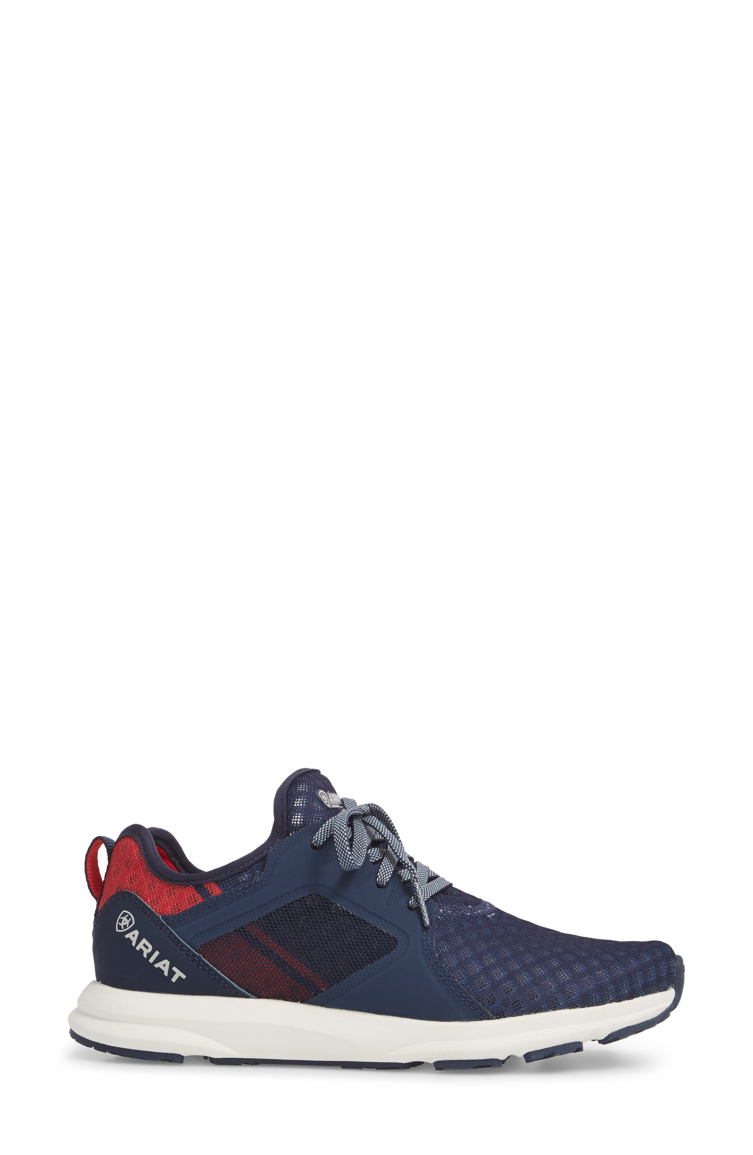 Fuse Print Sneaker,                             Alternate thumbnail 3, color,                             TEAM NAVY FABRIC