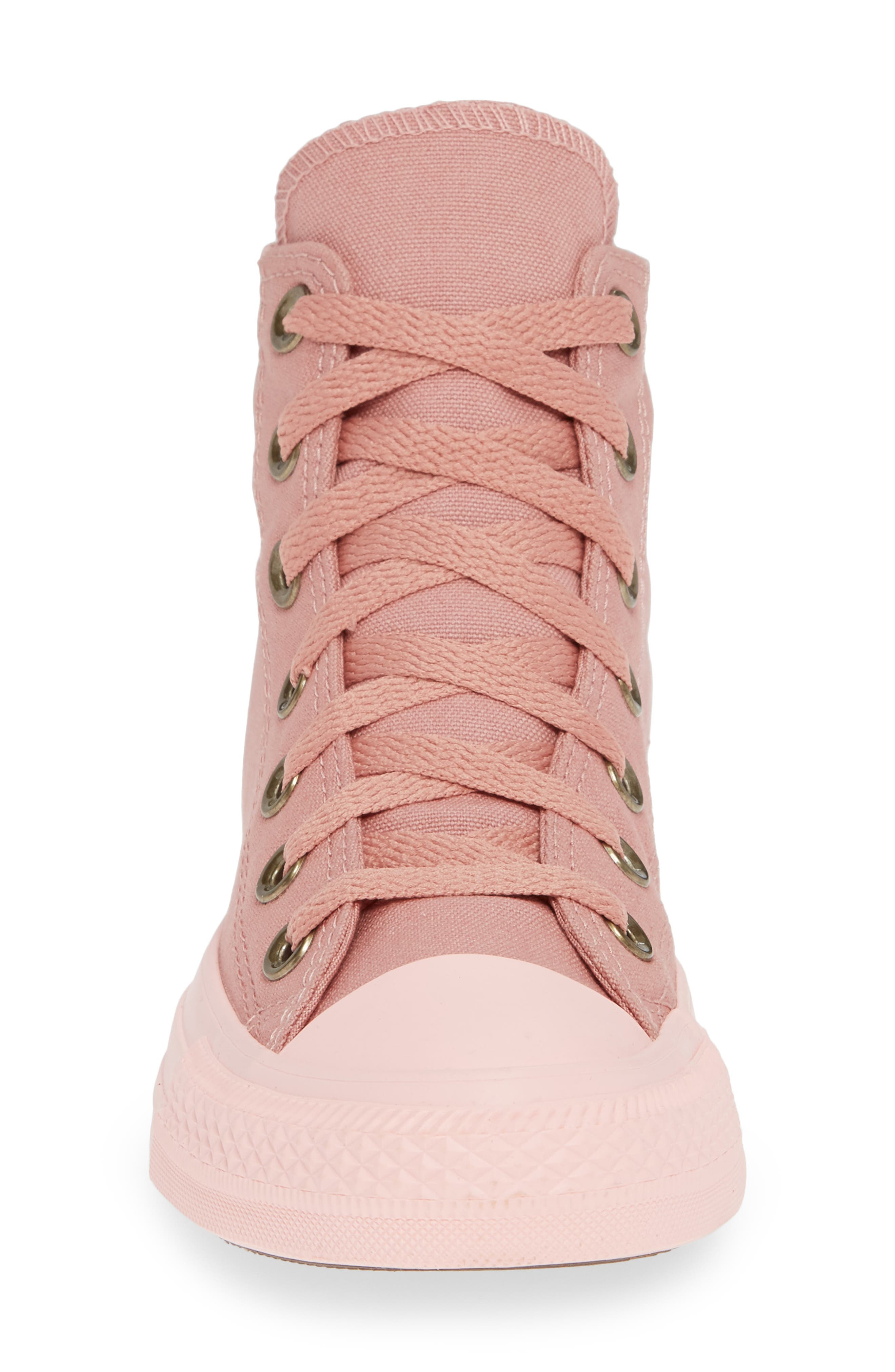 Chuck Taylor<sup>®</sup> All Star<sup>®</sup> Botanical High Top Sneaker,                             Alternate thumbnail 4, color,                             RUST PINK