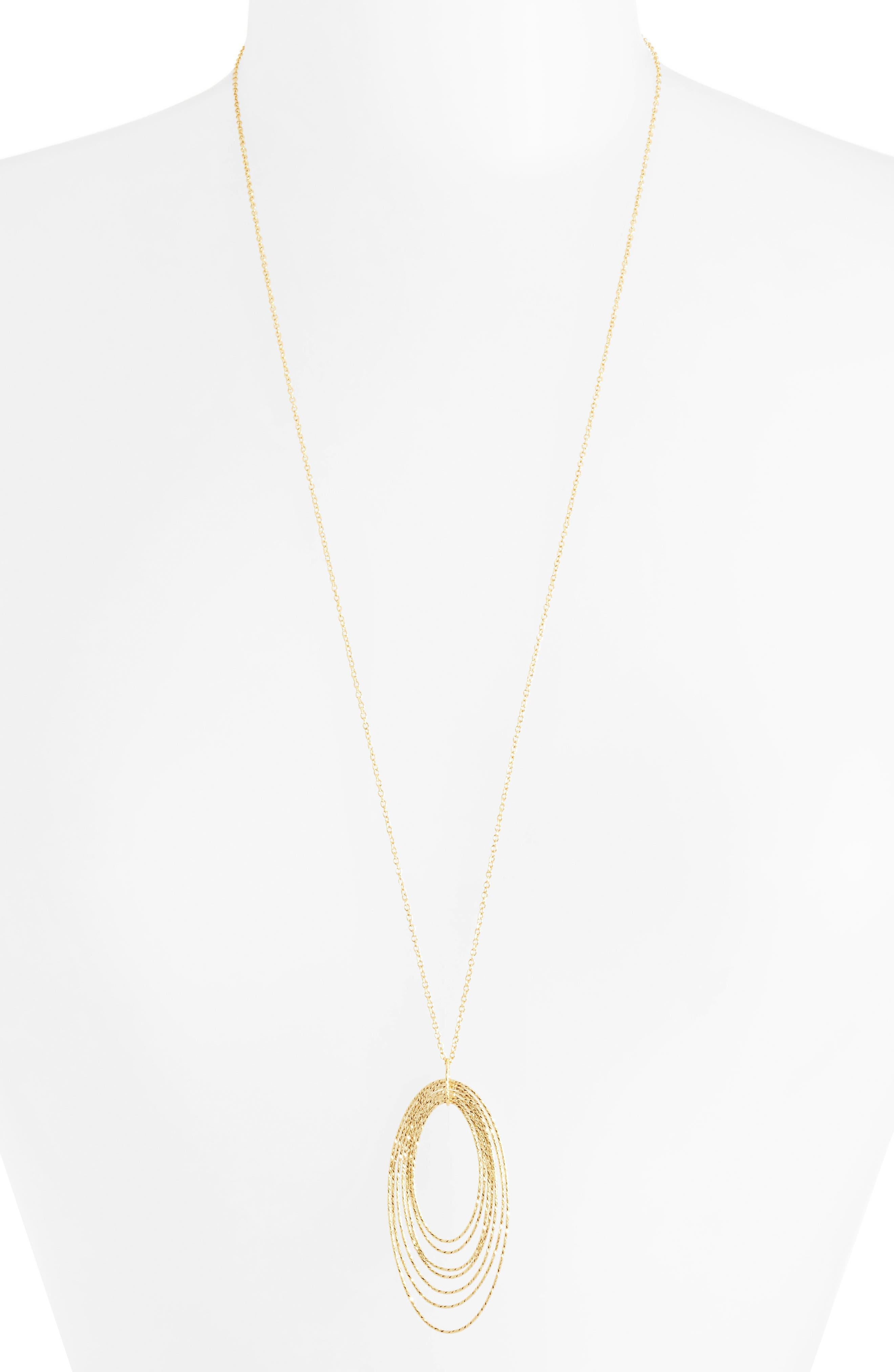 GORJANA Presely Long Adjustable Pendant Necklace, Main, color, GOLD