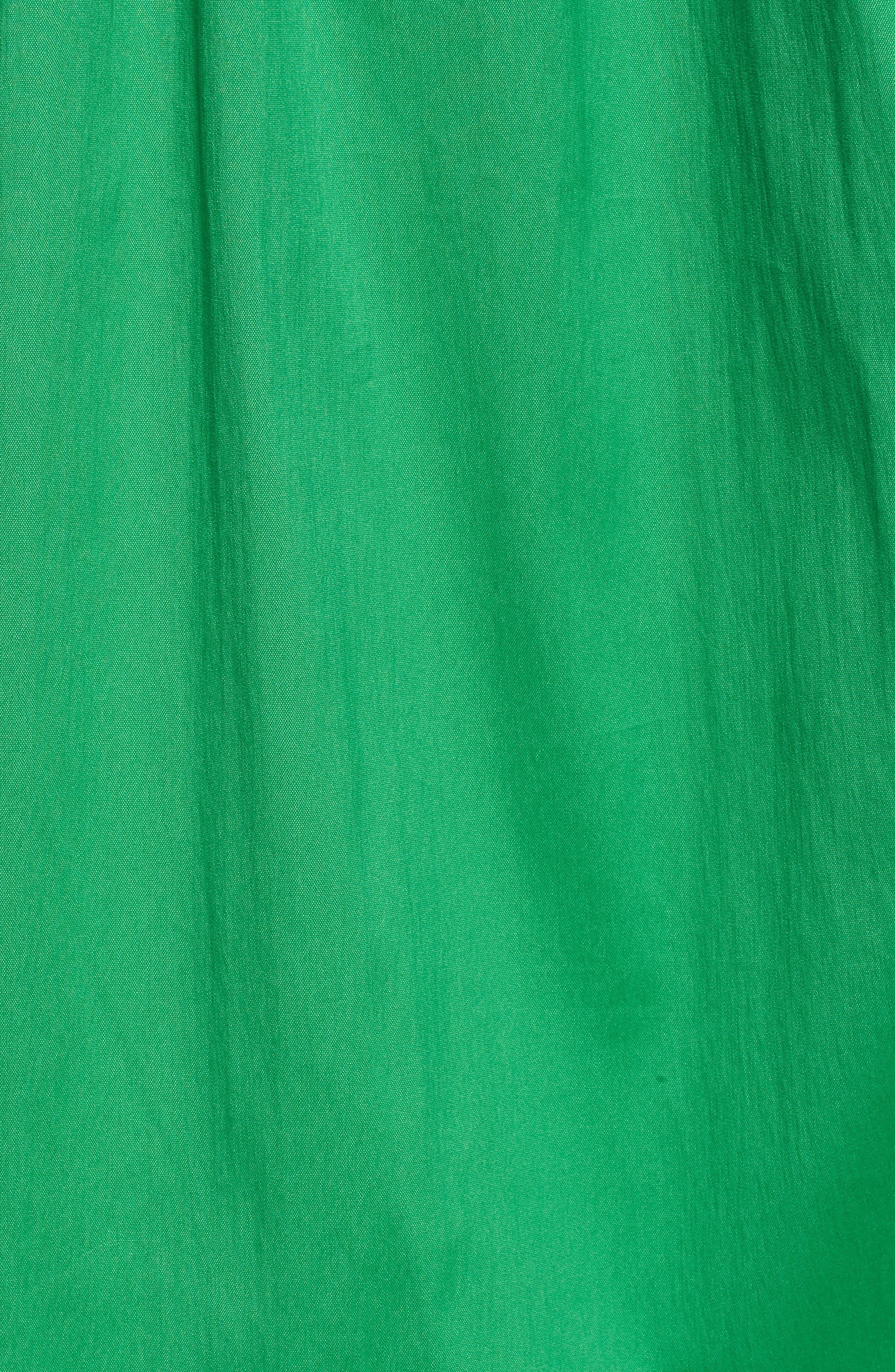 Drawcord Stretch Cotton Blend Dress,                             Alternate thumbnail 11, color,