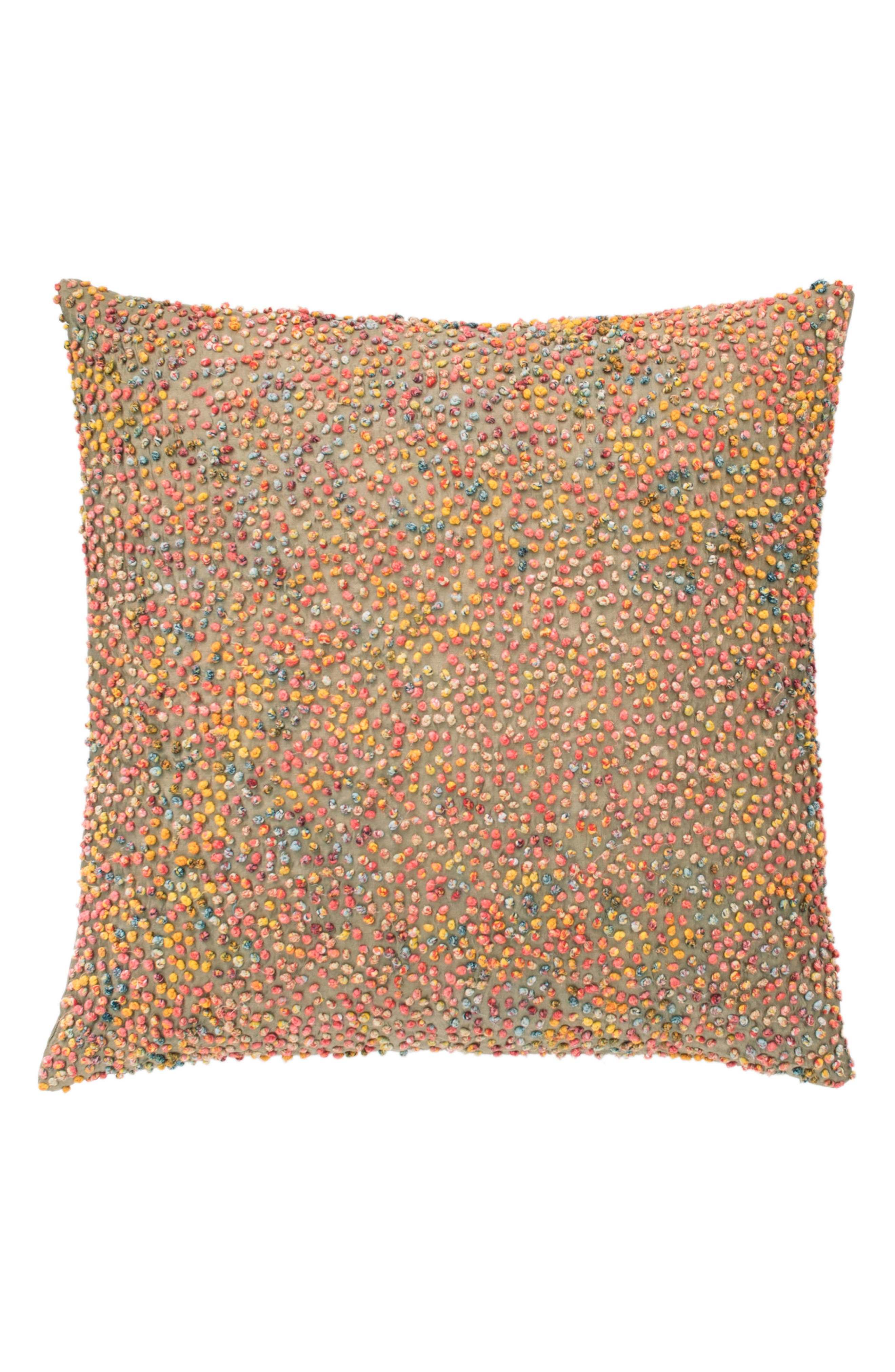 Cosmic Embroidered Accent Pillow,                         Main,                         color, PINK