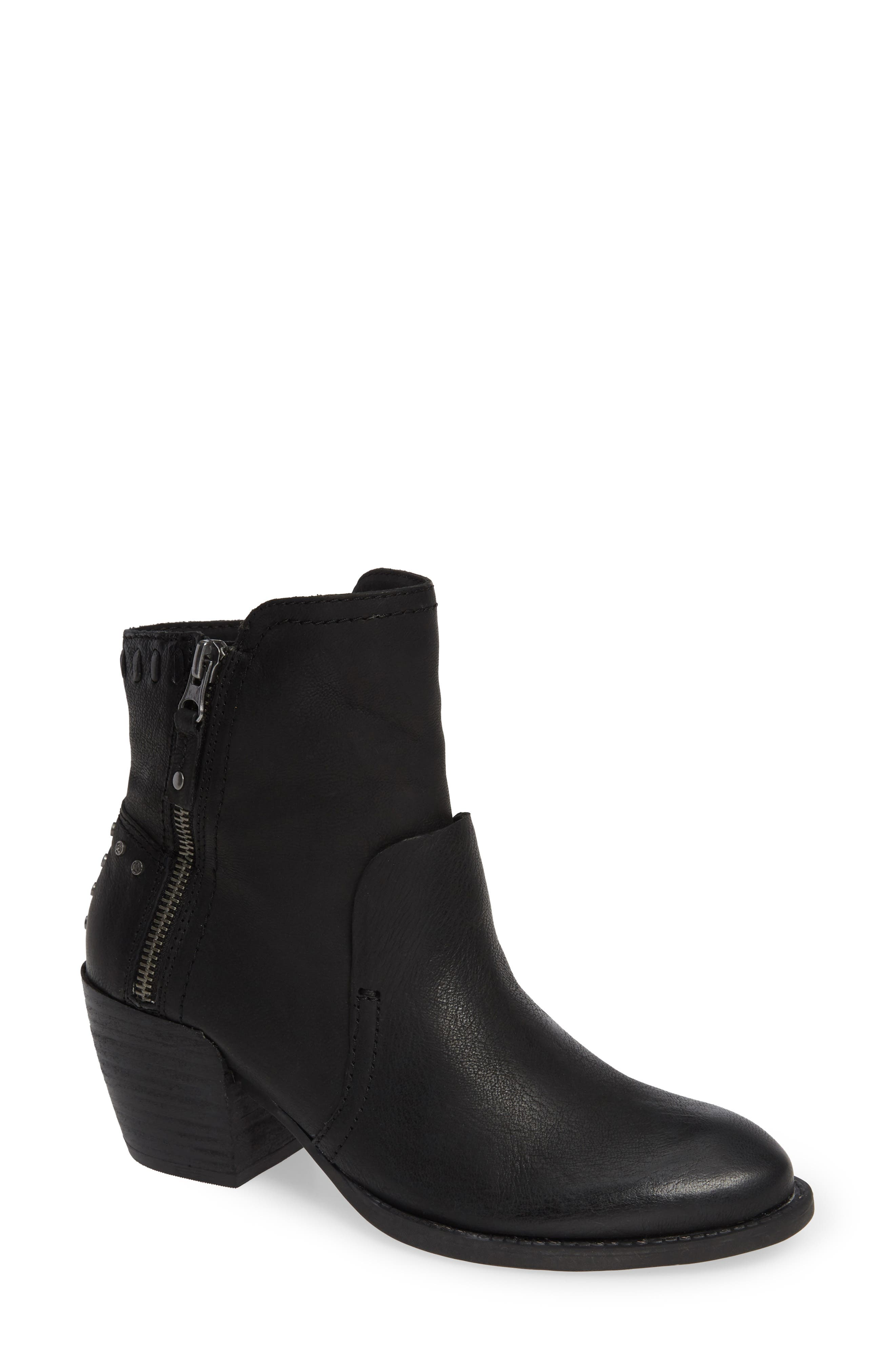 Red Eye Bootie,                             Main thumbnail 1, color,                             BLACK LEATHER