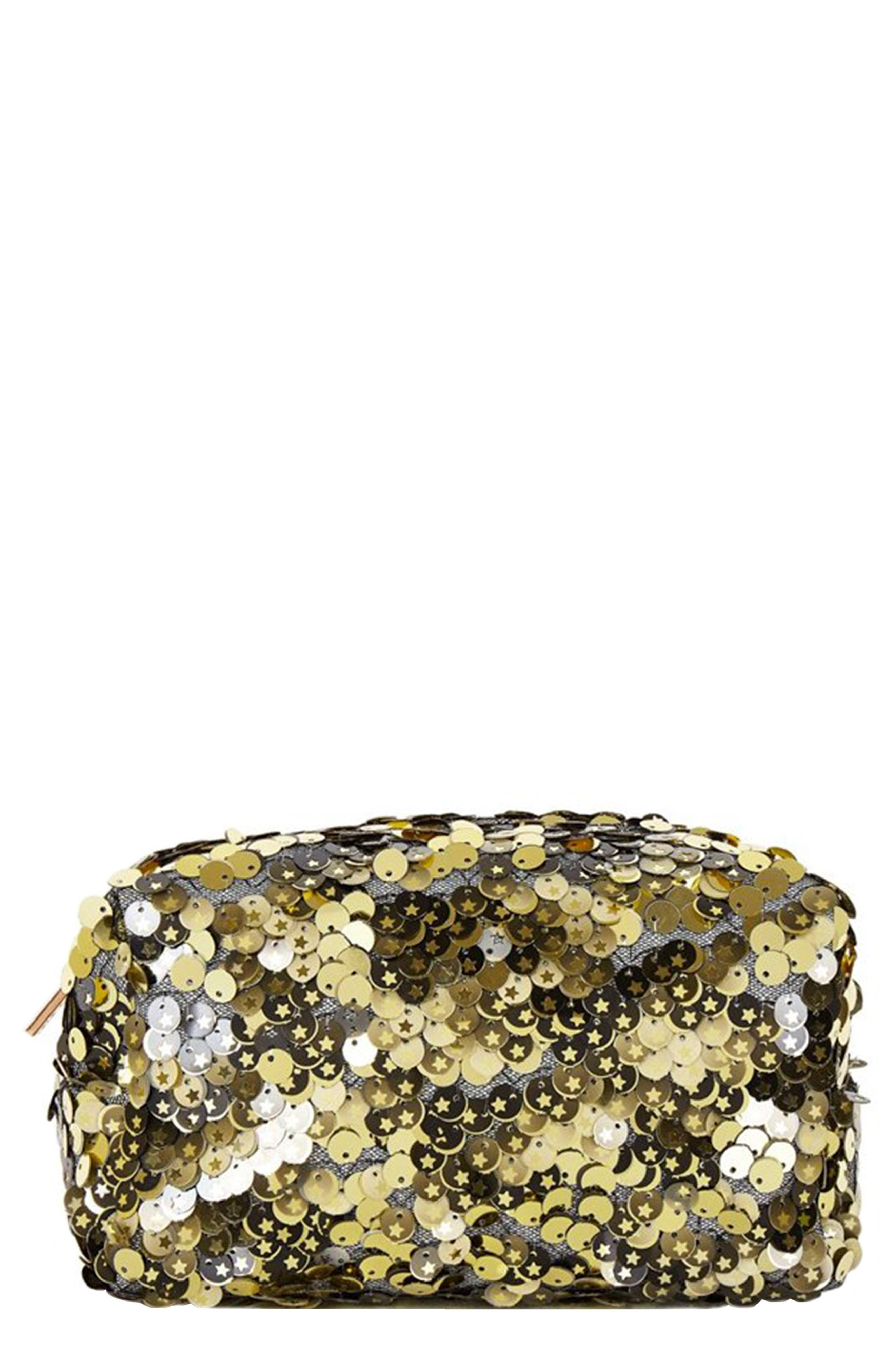 Skinny Dip Stardust Makeup Bag,                         Main,                         color, NO COLOR