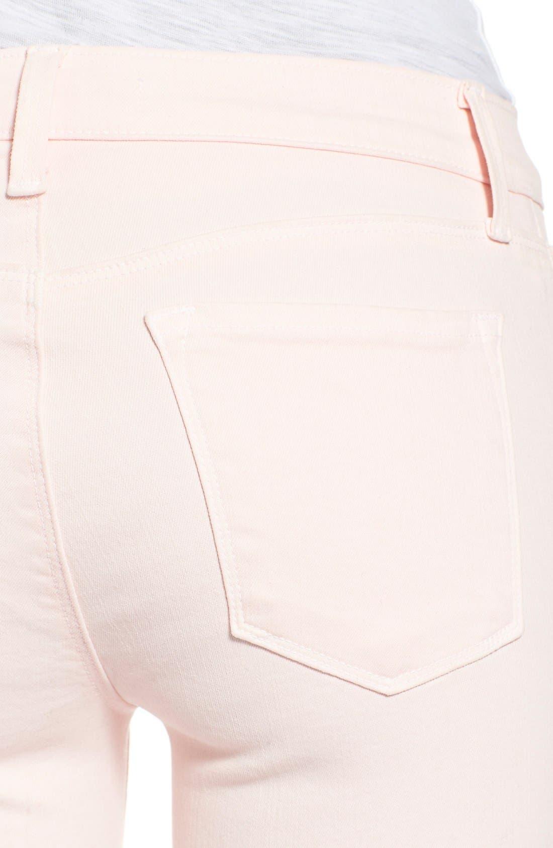J BRAND,                             'Little Pink Jean' Low RiseCropSkinny Jeans,                             Alternate thumbnail 5, color,                             650