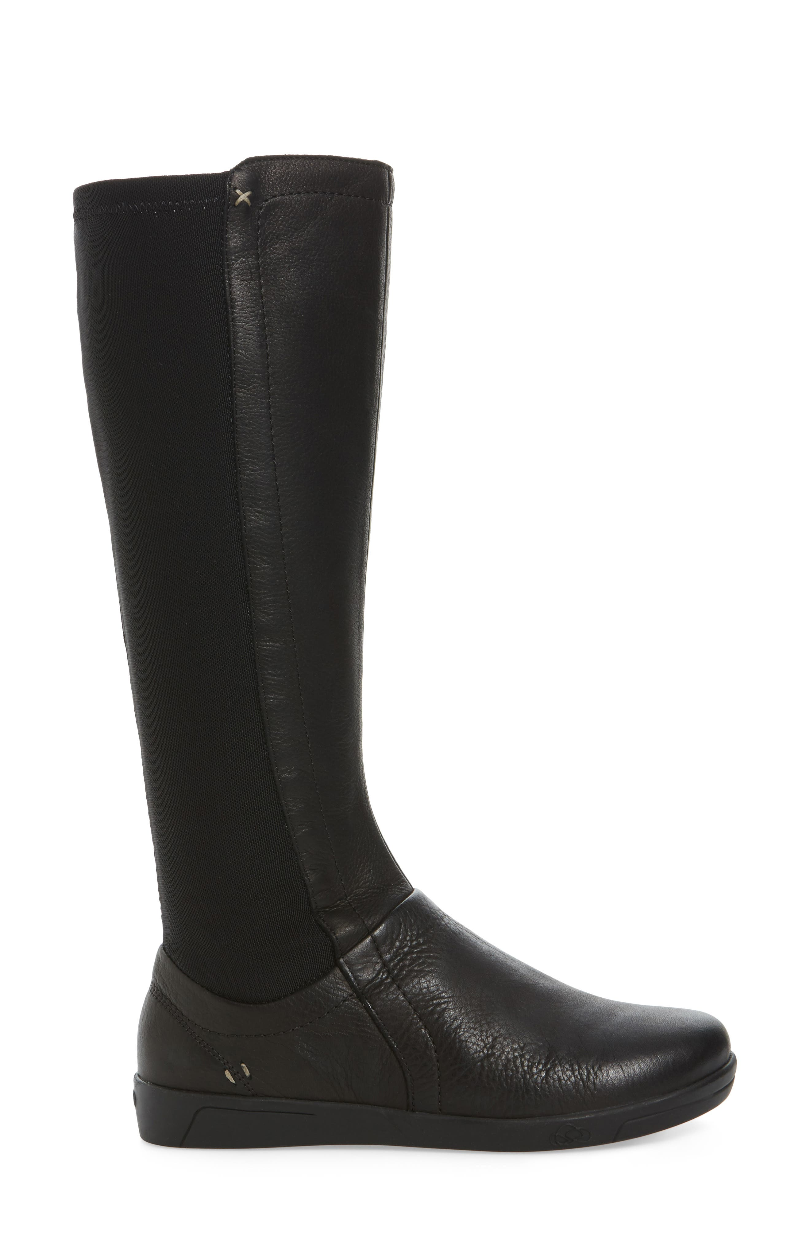 Ace Tall Boot,                             Alternate thumbnail 3, color,                             BLACK LEATHER