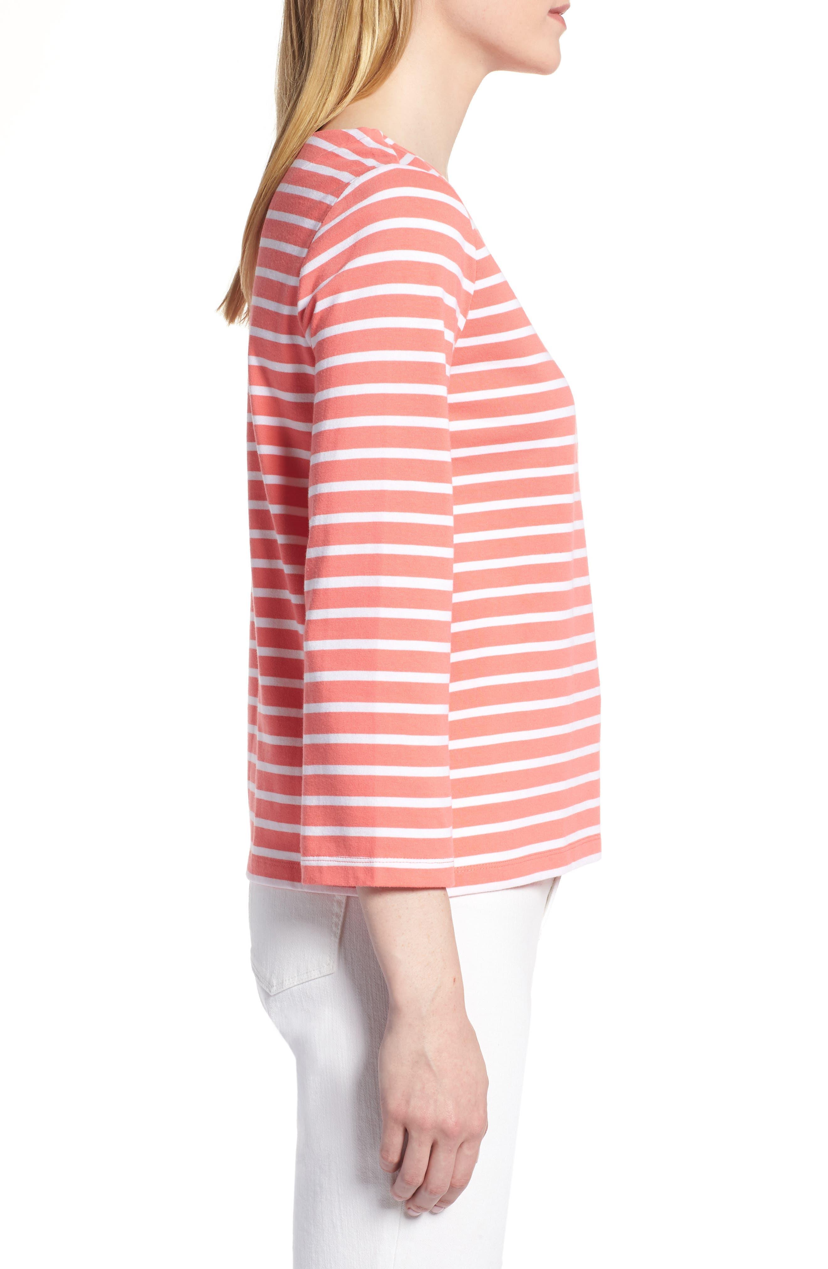 Shoulder Button Cotton Top,                             Alternate thumbnail 3, color,                             958