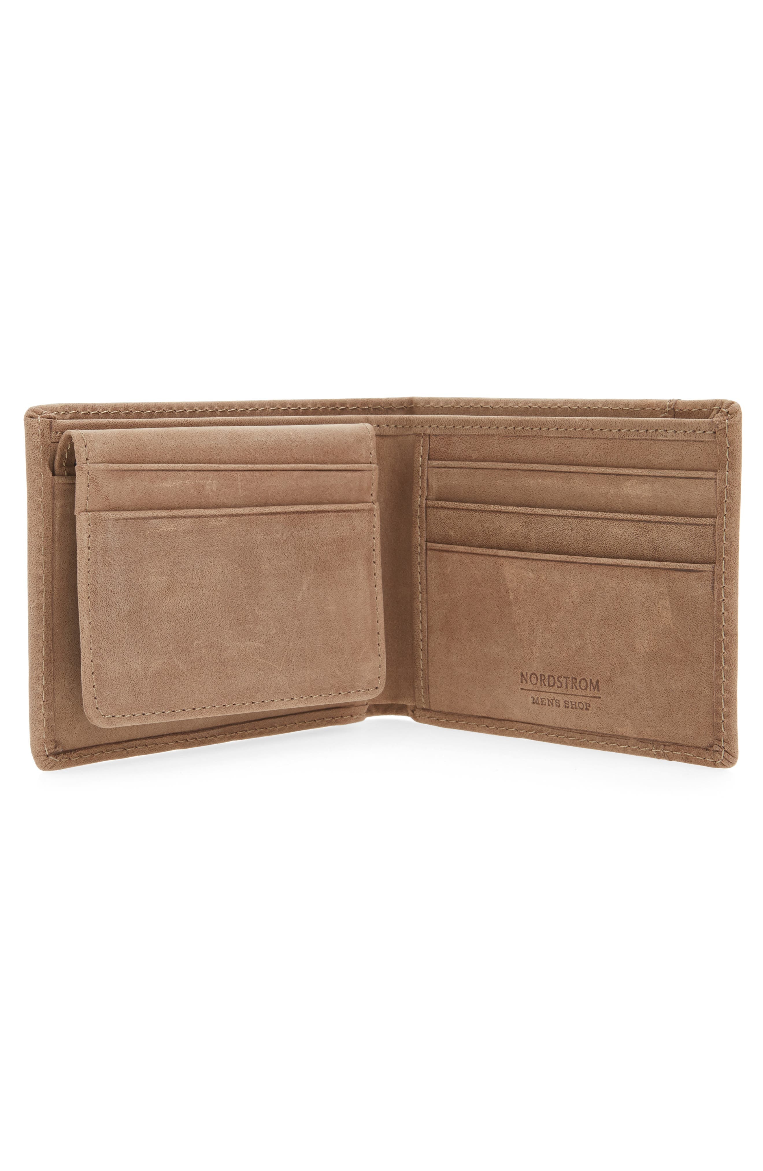 Upton Leather Wallet,                             Alternate thumbnail 2, color,