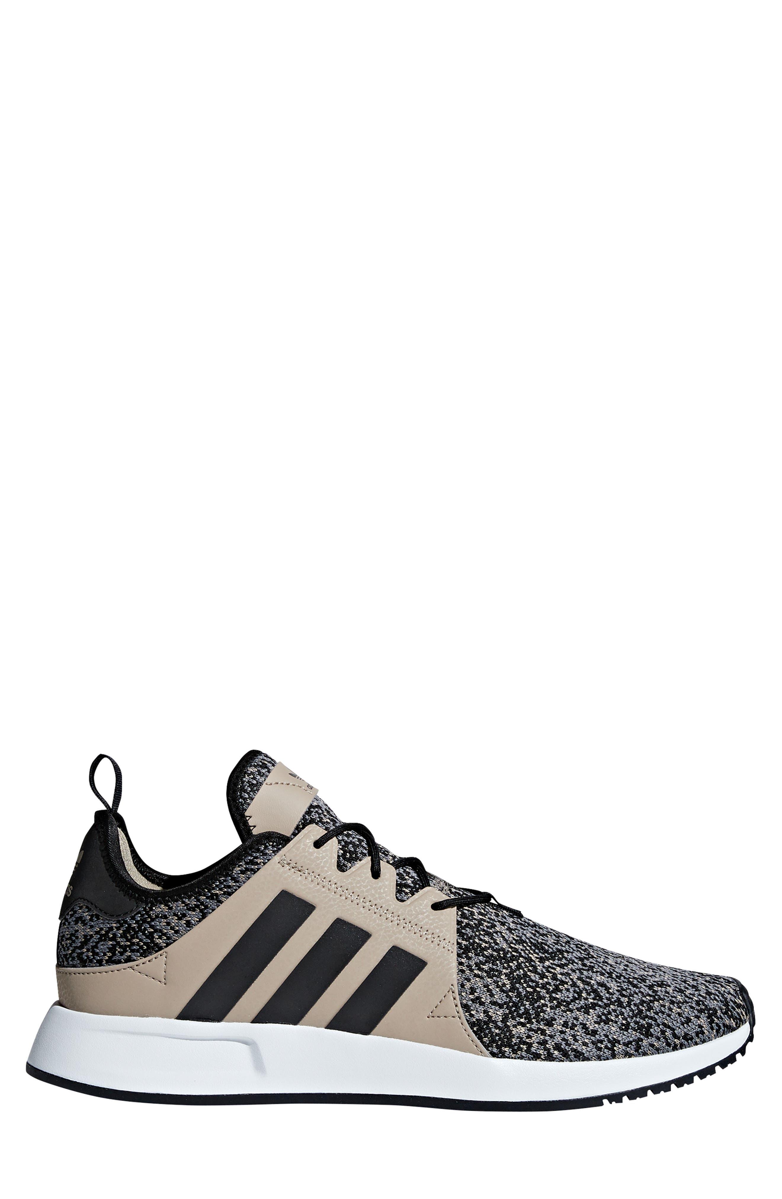 X_PLR Sneaker,                             Alternate thumbnail 3, color,                             KHAKI / CORE BLACK / WHITE