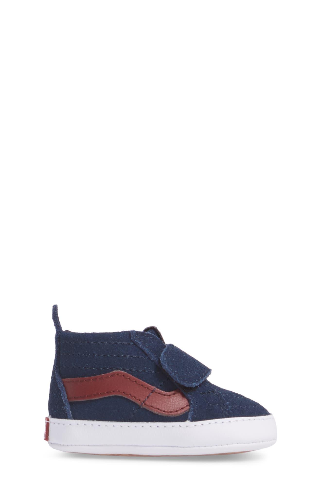 SK8-Hi Crib Sneaker,                             Alternate thumbnail 3, color,                             401