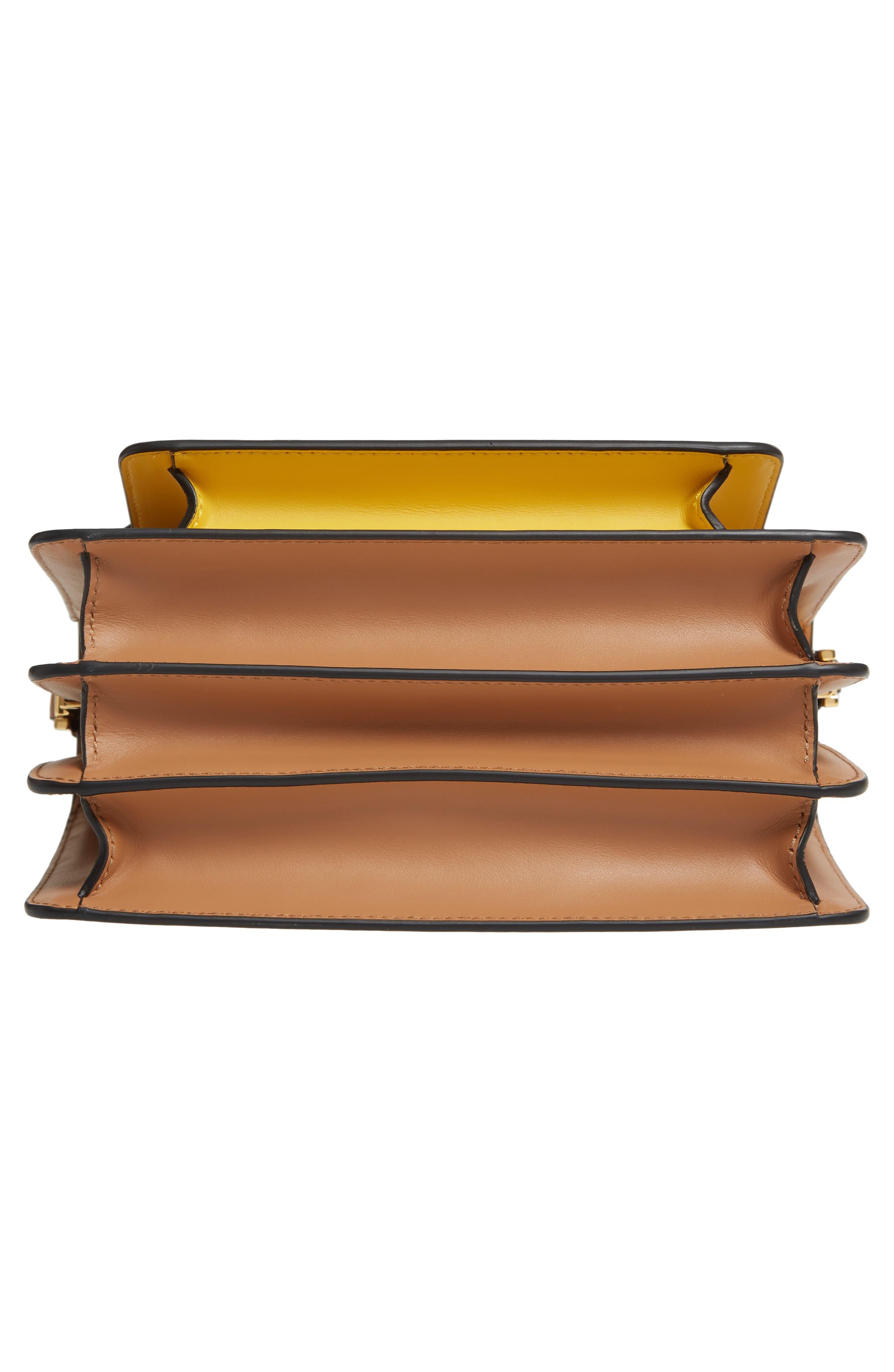 MARNI,                             Trunk Colorblock Leather Shoulder Bag,                             Alternate thumbnail 6, color,                             QUARTZ/ SUNO/ POMPEII
