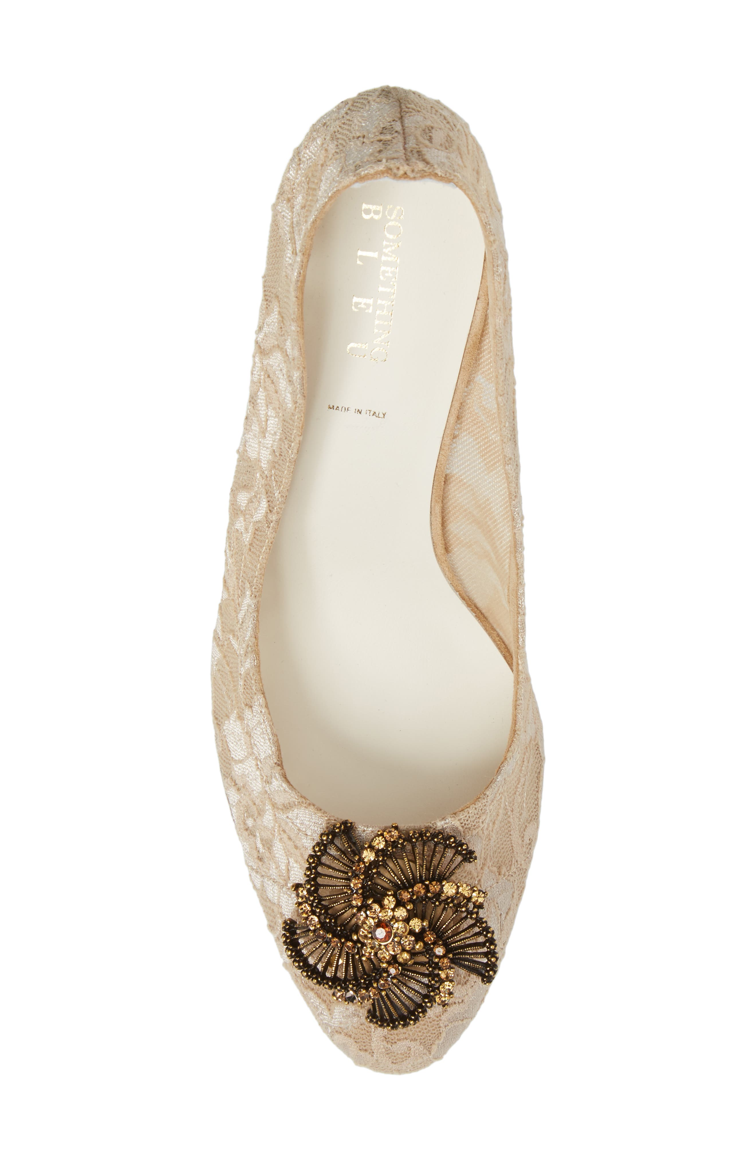 Valerie Embellished Pump,                             Alternate thumbnail 5, color,                             TAUPE LACE