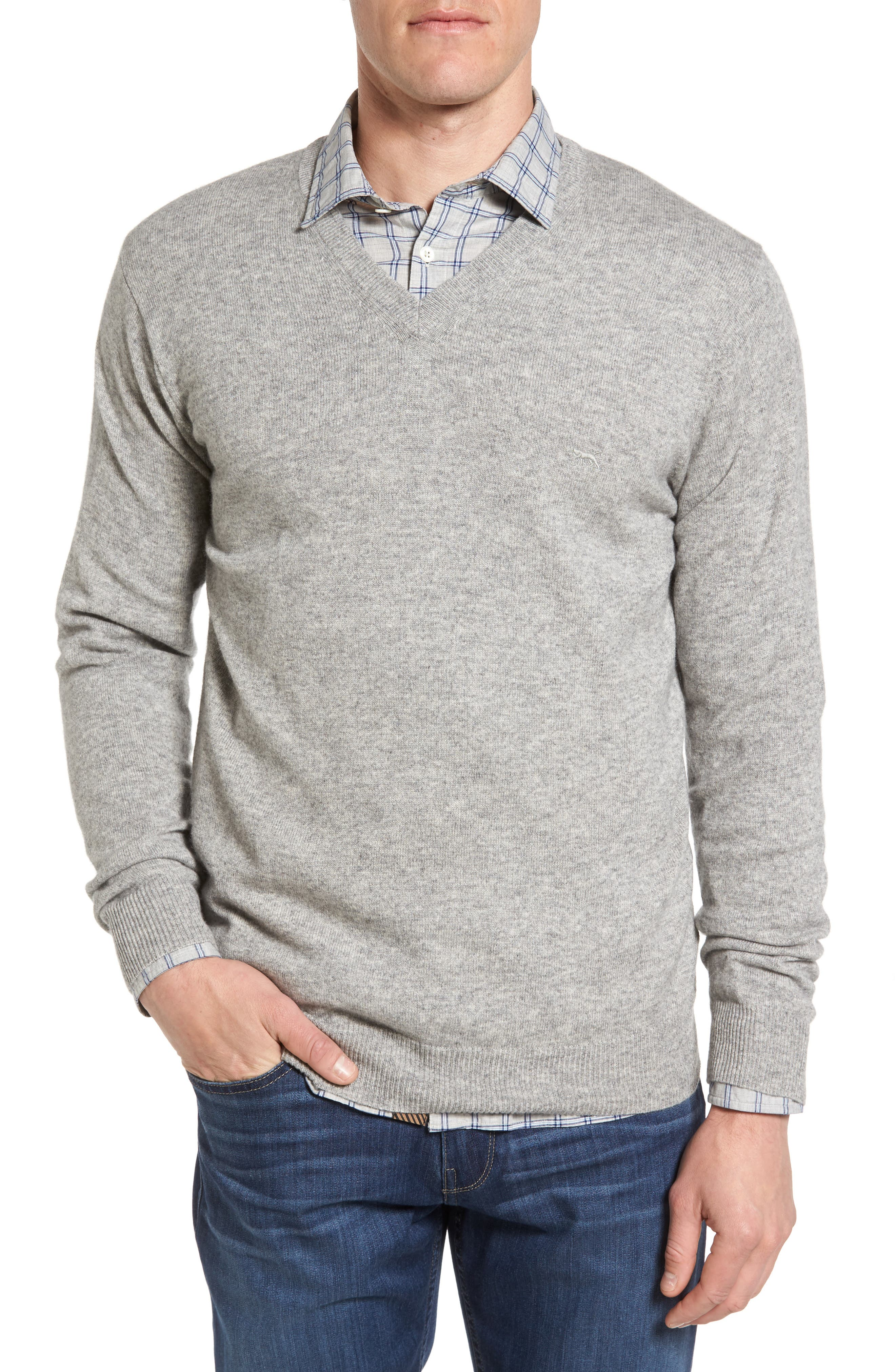 'Inchbonnie' Wool & Cashmere V-Neck Sweater,                             Main thumbnail 1, color,                             020