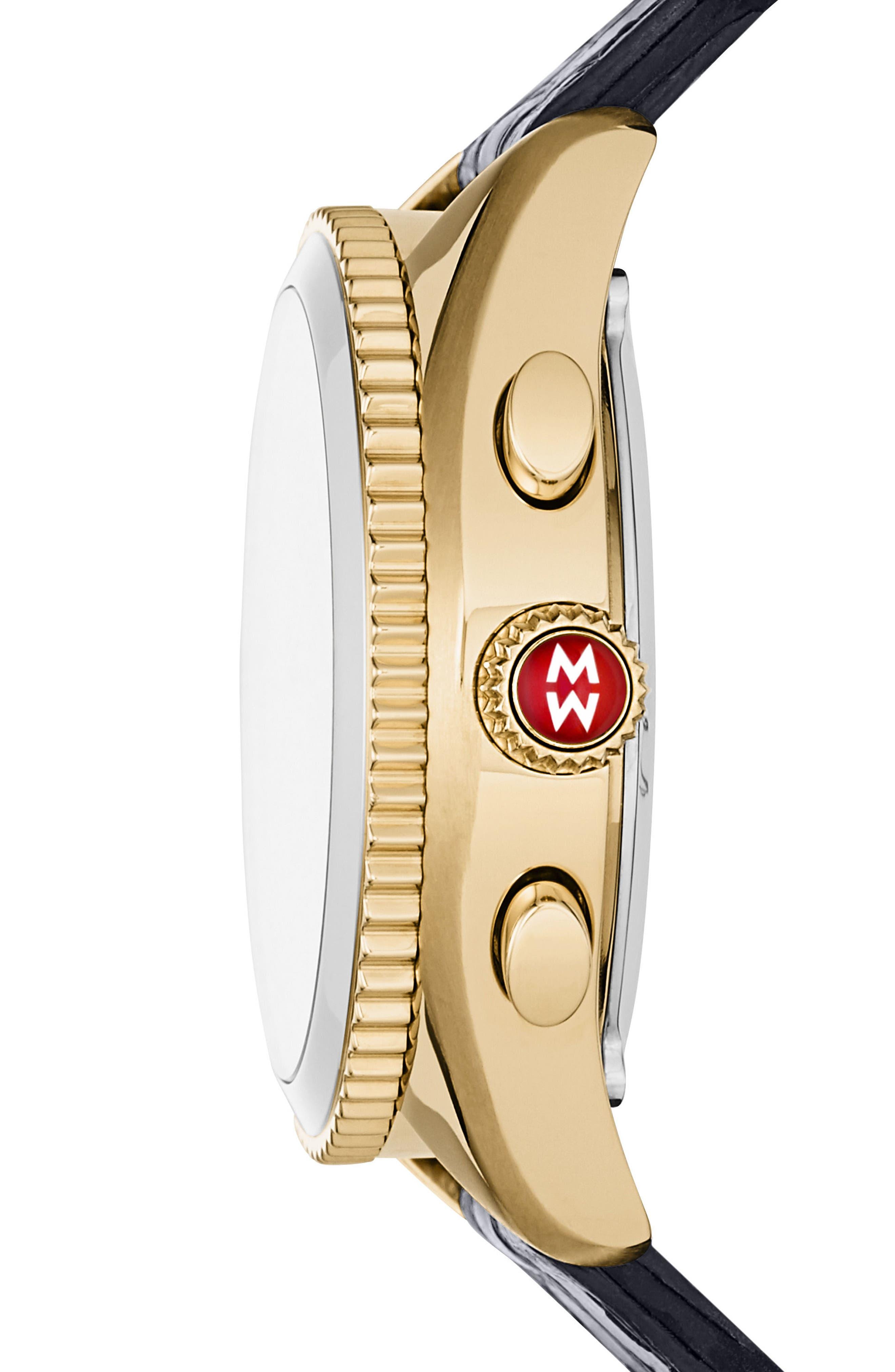Hybrid Tracker Watch, 38mm,                             Alternate thumbnail 3, color,                             NAVY/ GOLD