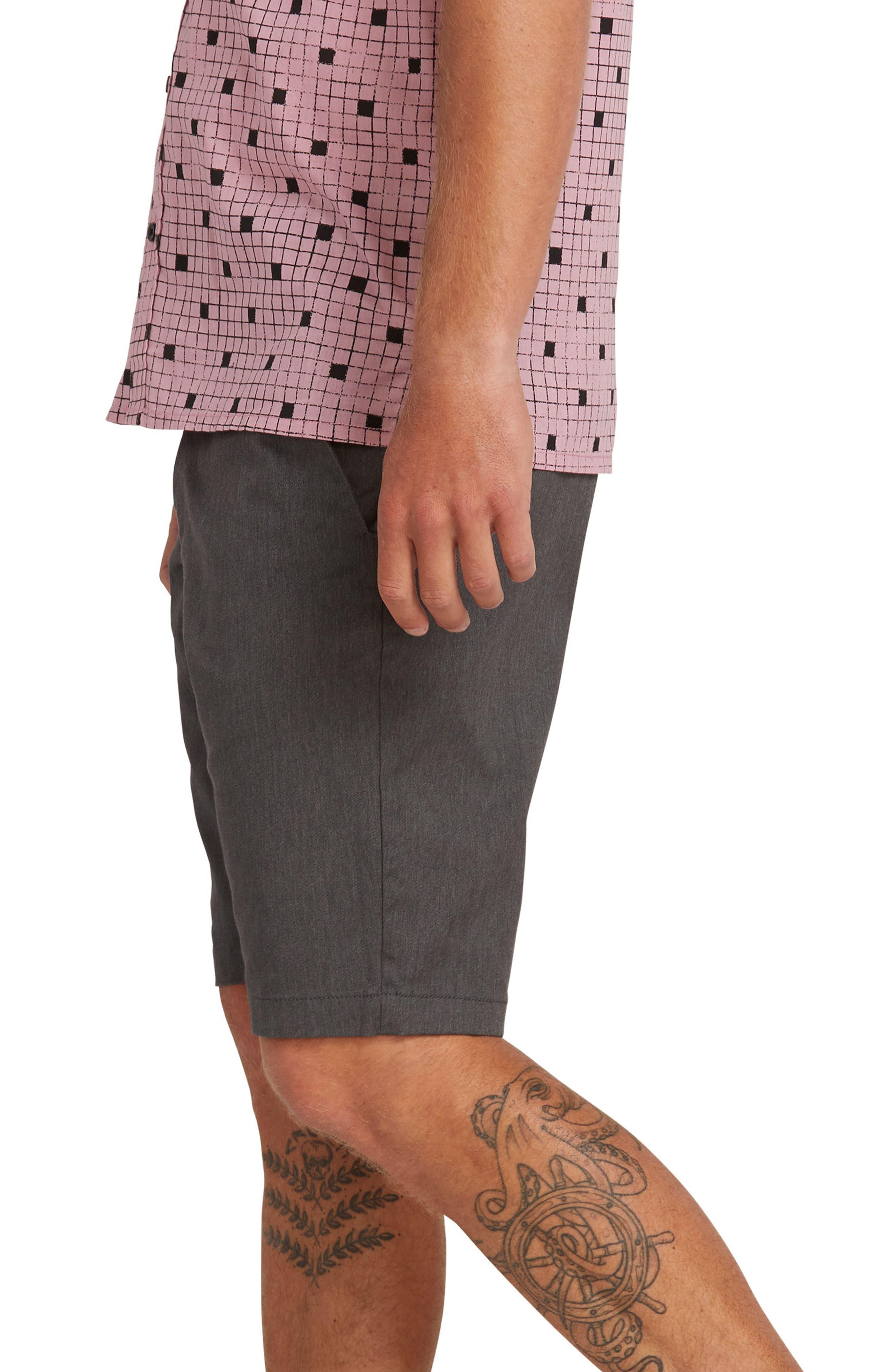 VOLCOM,                             'Modern' Stretch Chino Shorts,                             Alternate thumbnail 3, color,                             021