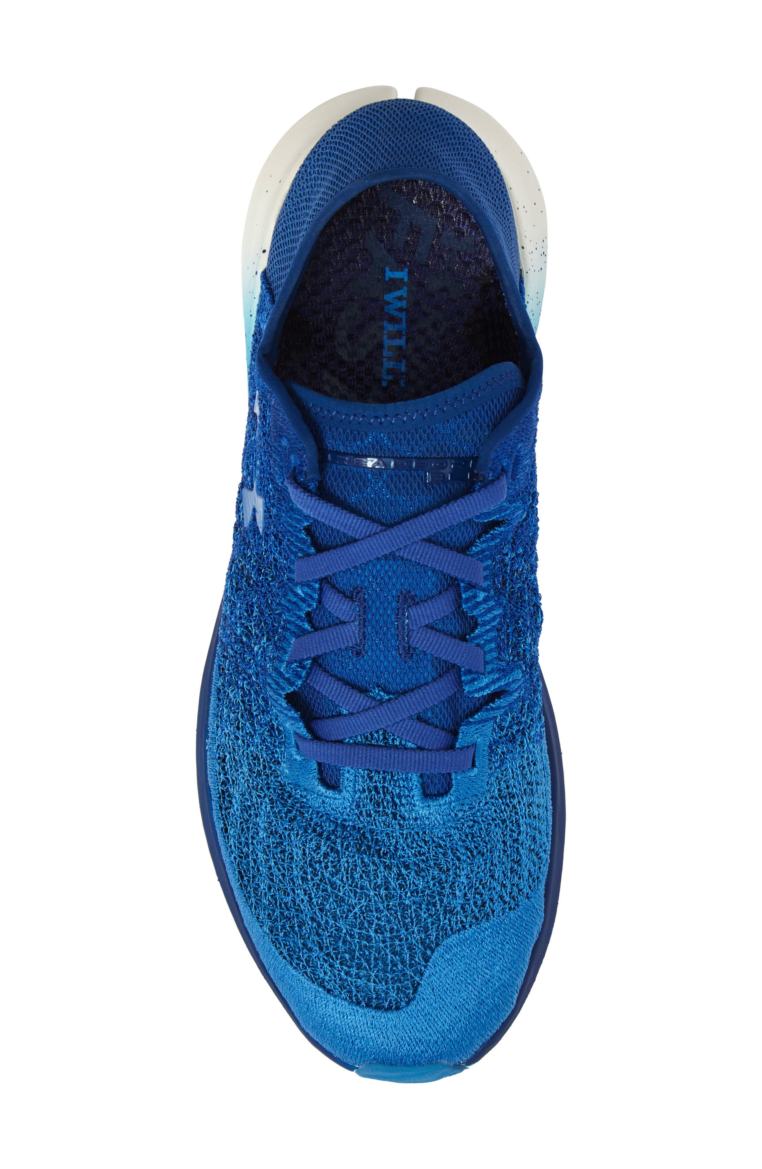 UNDER ARMOUR,                             Threadborne Blur Running Shoe,                             Alternate thumbnail 5, color,                             400