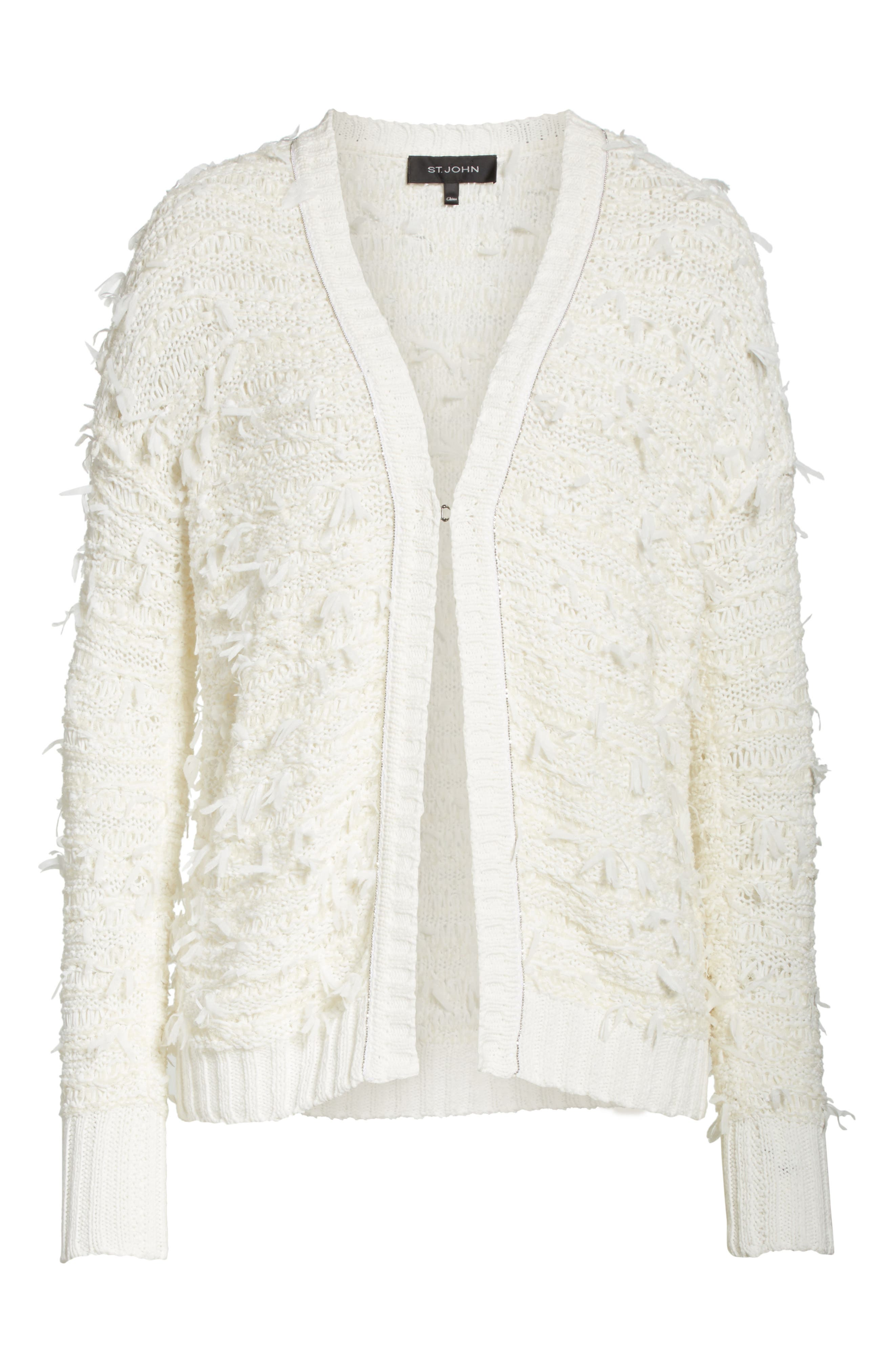 Tufted Knit Cardigan,                             Alternate thumbnail 6, color,                             900