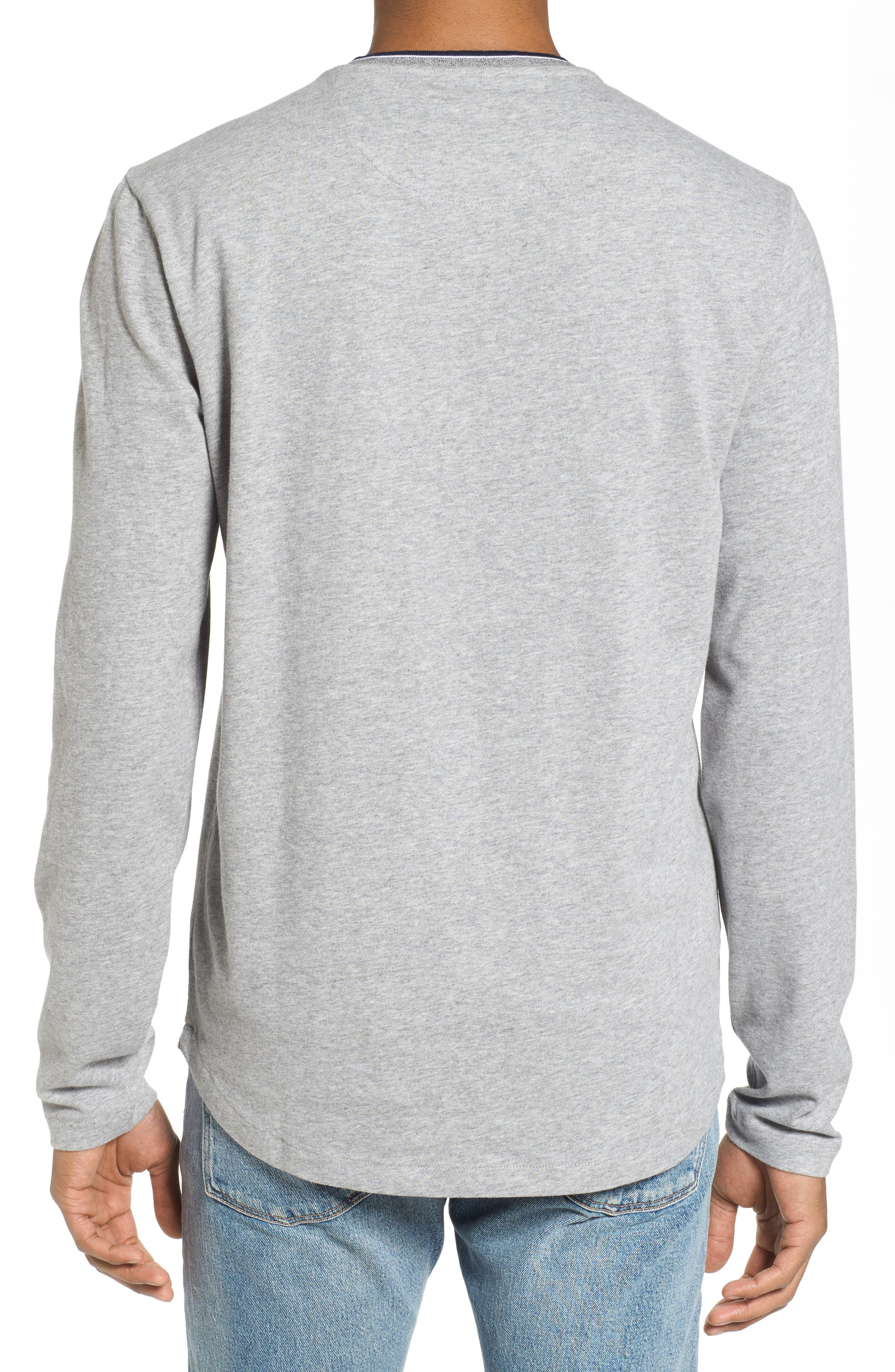 Sueded Tipped Henley,                             Alternate thumbnail 2, color,                             055