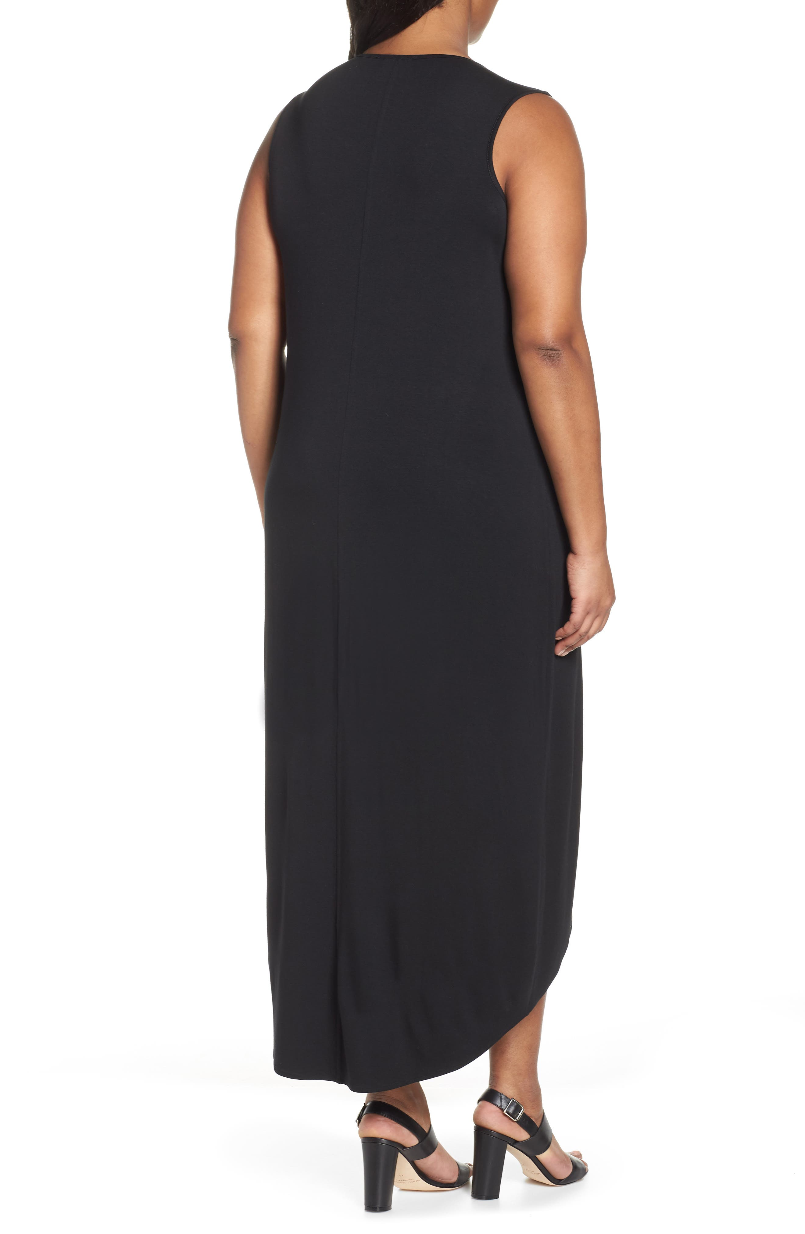 Ease Maxi Dress,                             Alternate thumbnail 2, color,                             BLACK ONYX
