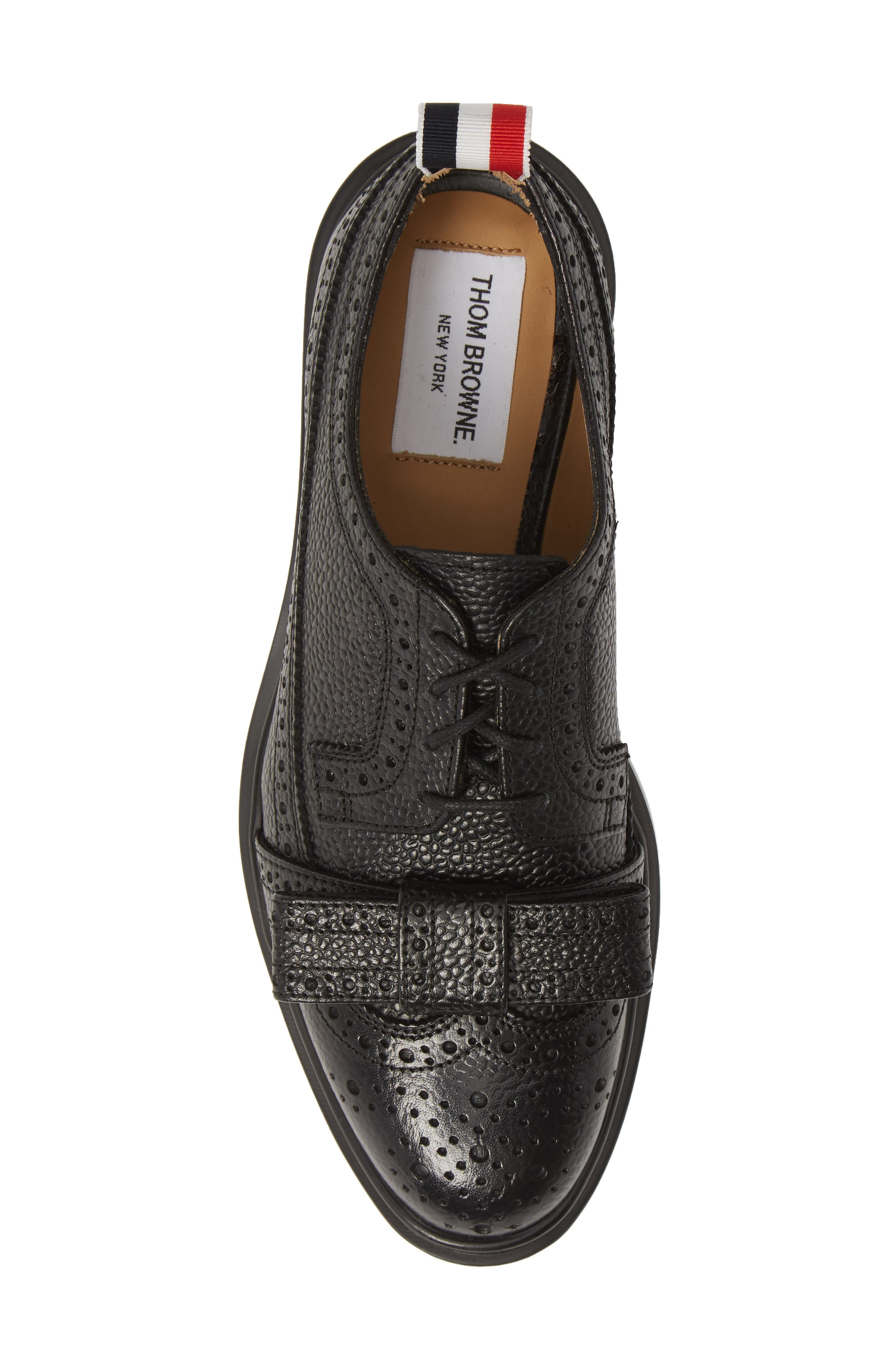 Bow Brogued Oxford,                             Alternate thumbnail 5, color,                             BLACK