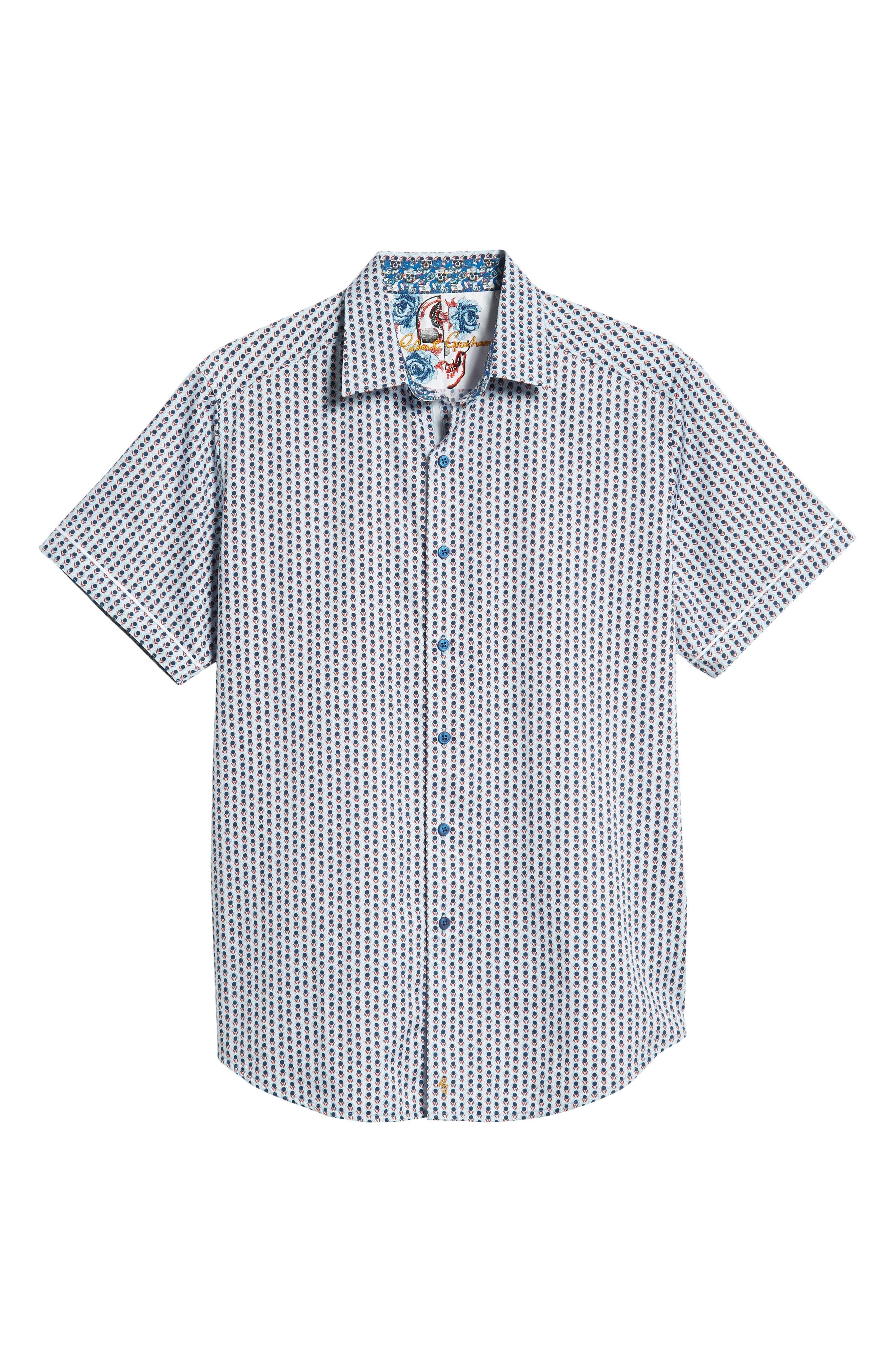 Westward Classic Fit Stripe Sport Shirt,                             Alternate thumbnail 5, color,                             CREAM
