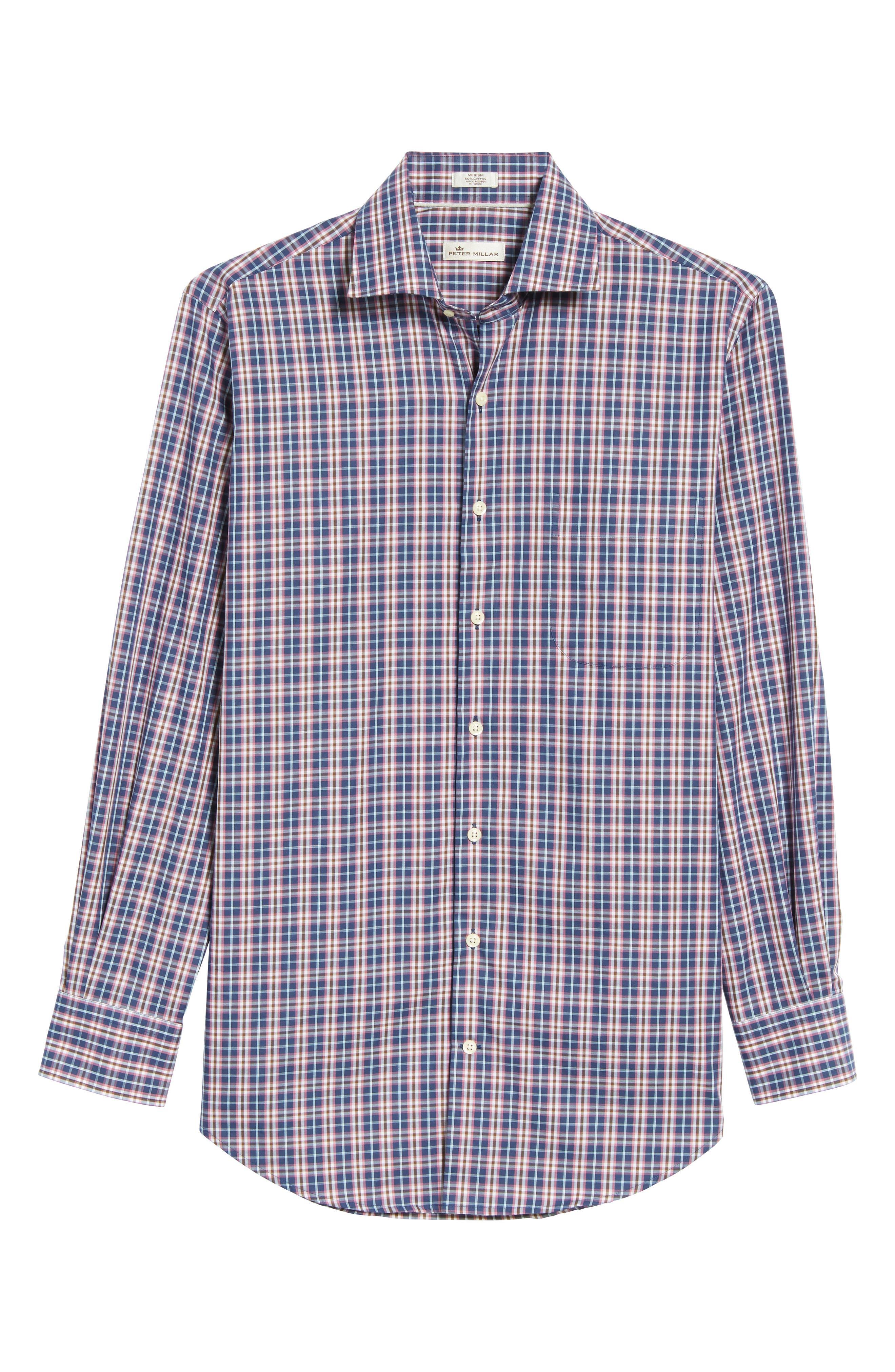 Mitchell Plaid Sport Shirt,                             Alternate thumbnail 6, color,                             420