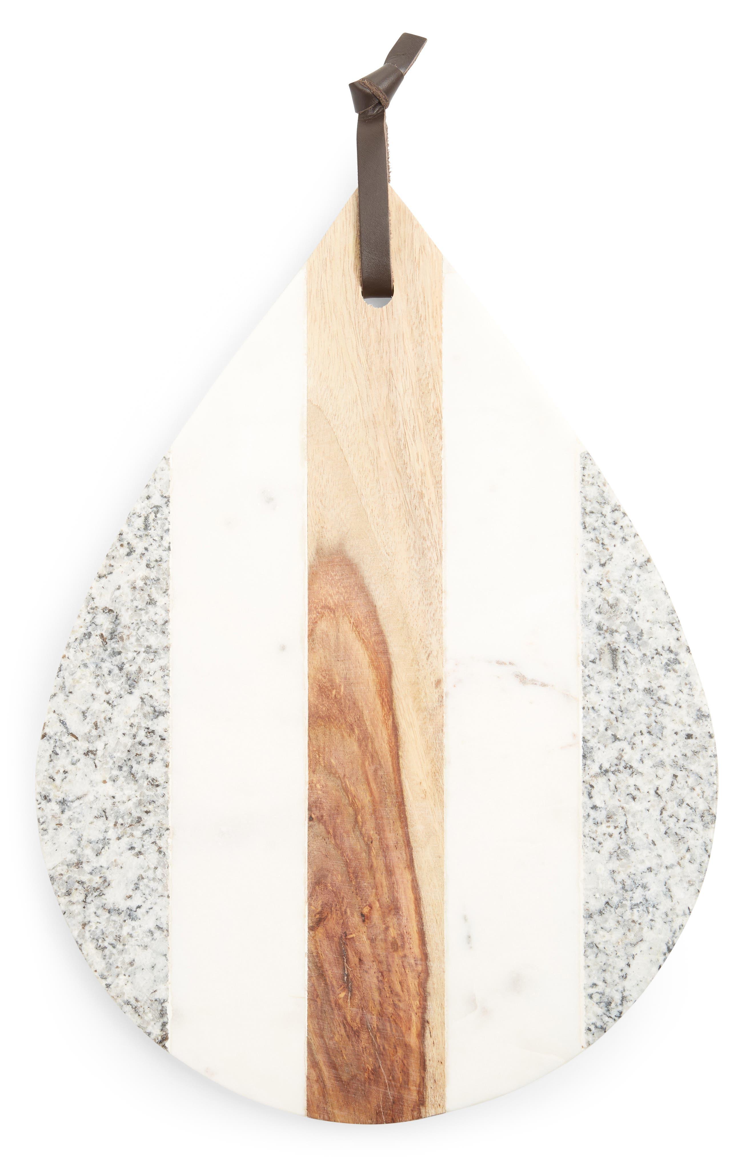 Teardrop Cutting Board,                         Main,                         color, GREY