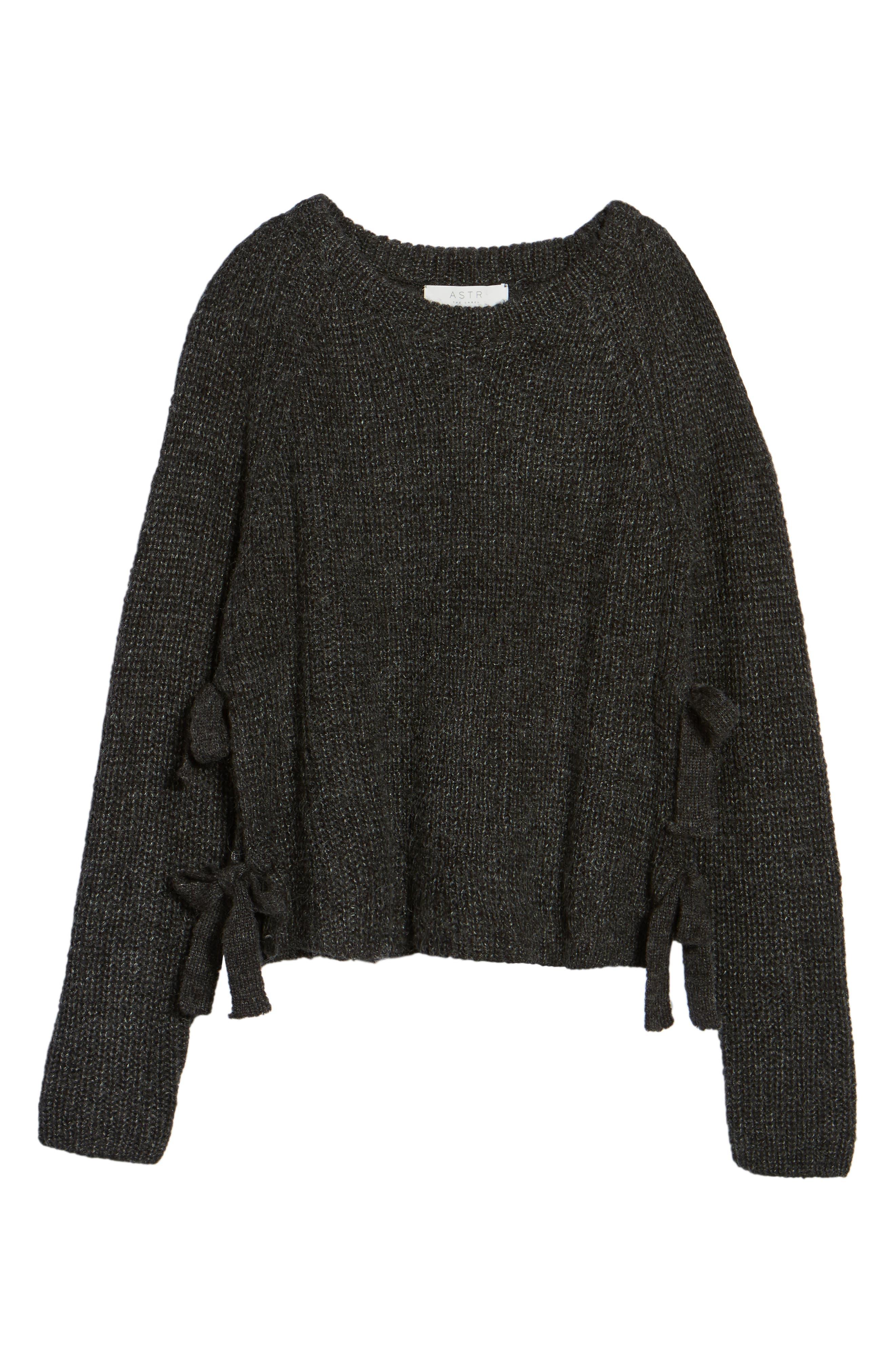 Lexie Side Tie Sweater,                             Alternate thumbnail 6, color,                             020