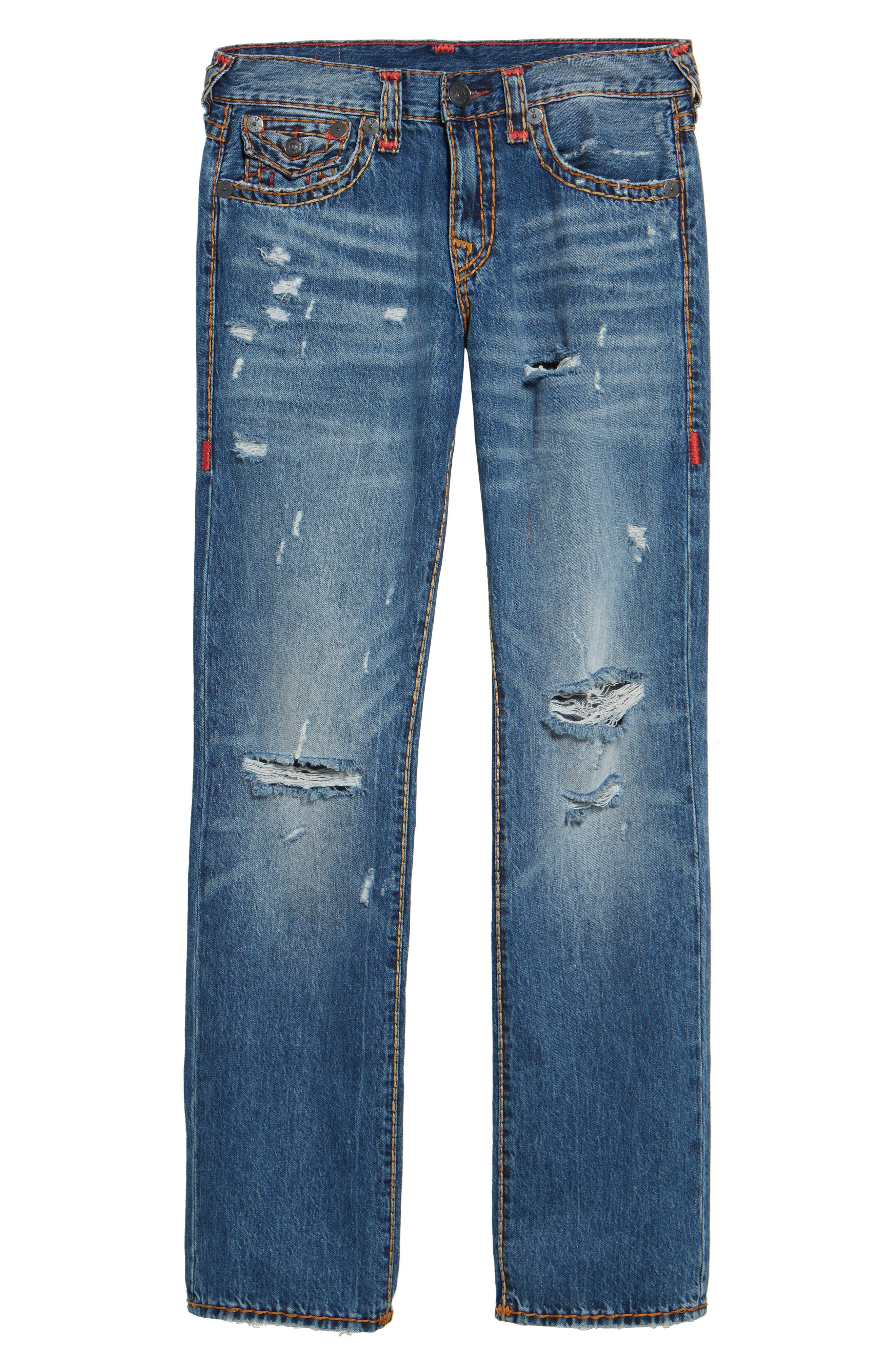Ricky Relaxed Fit Jeans,                             Alternate thumbnail 6, color,                             WORN EVER FADE
