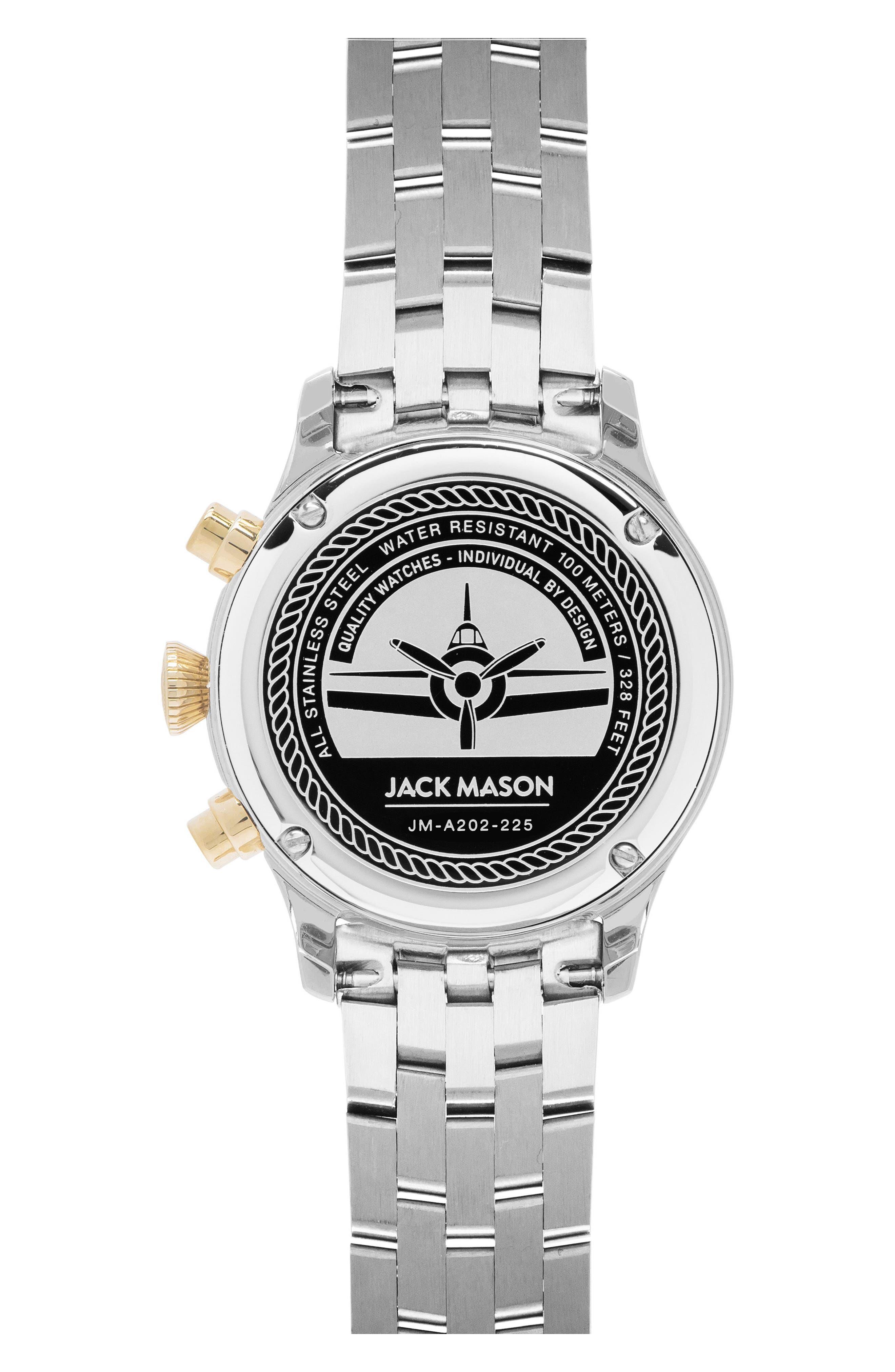 Aviation Chronograph Bracelet Watch, 36mm,                             Alternate thumbnail 2, color,                             040