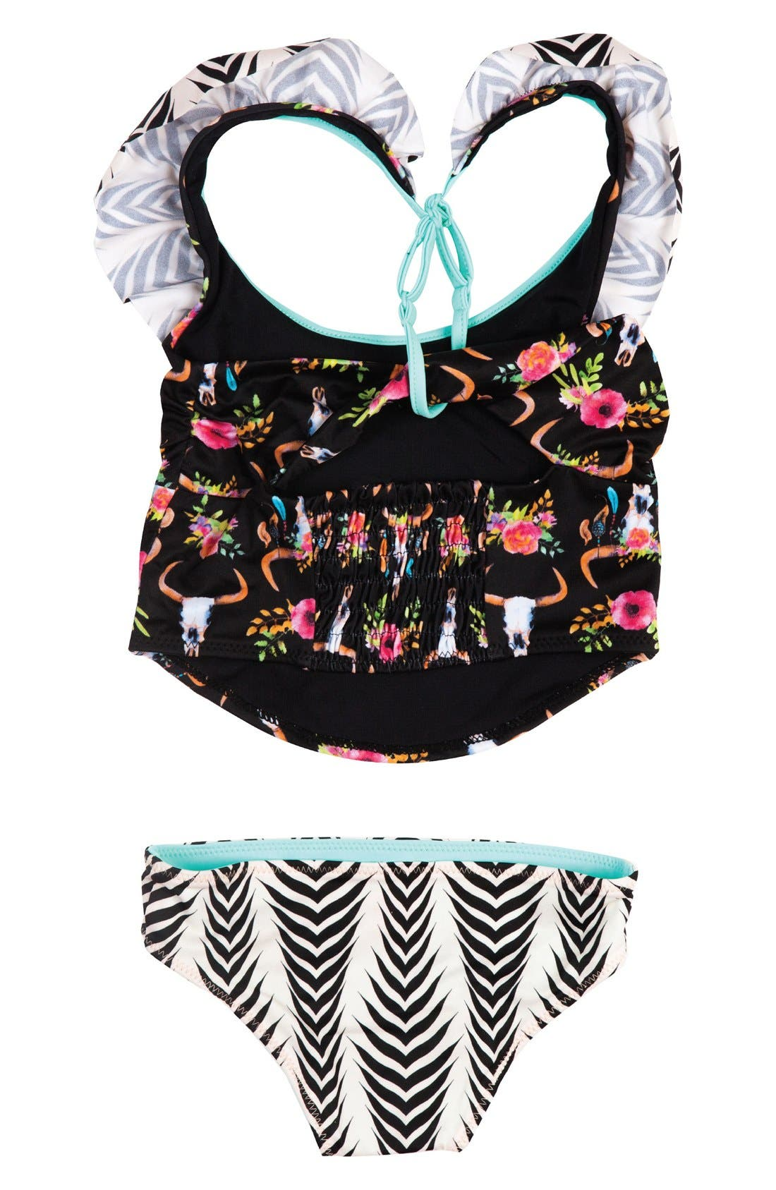 Dreamcatcher Two-Piece Tankini Swimsuit,                             Alternate thumbnail 4, color,                             003