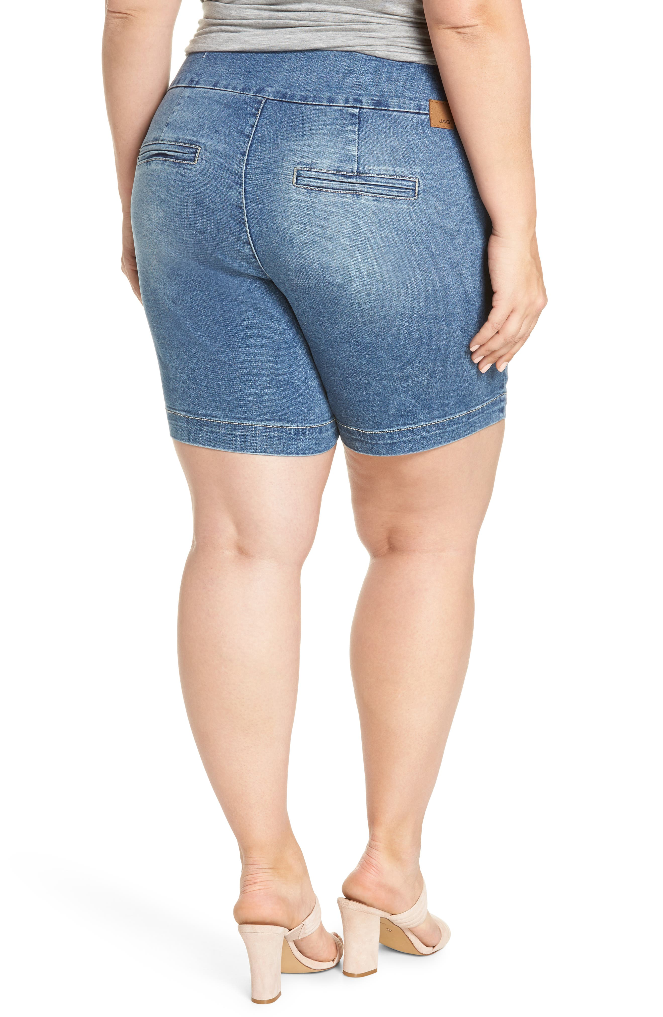 JAG JEANS,                             Ainsley Pull-On Stretch Denim Shorts,                             Alternate thumbnail 2, color,                             420