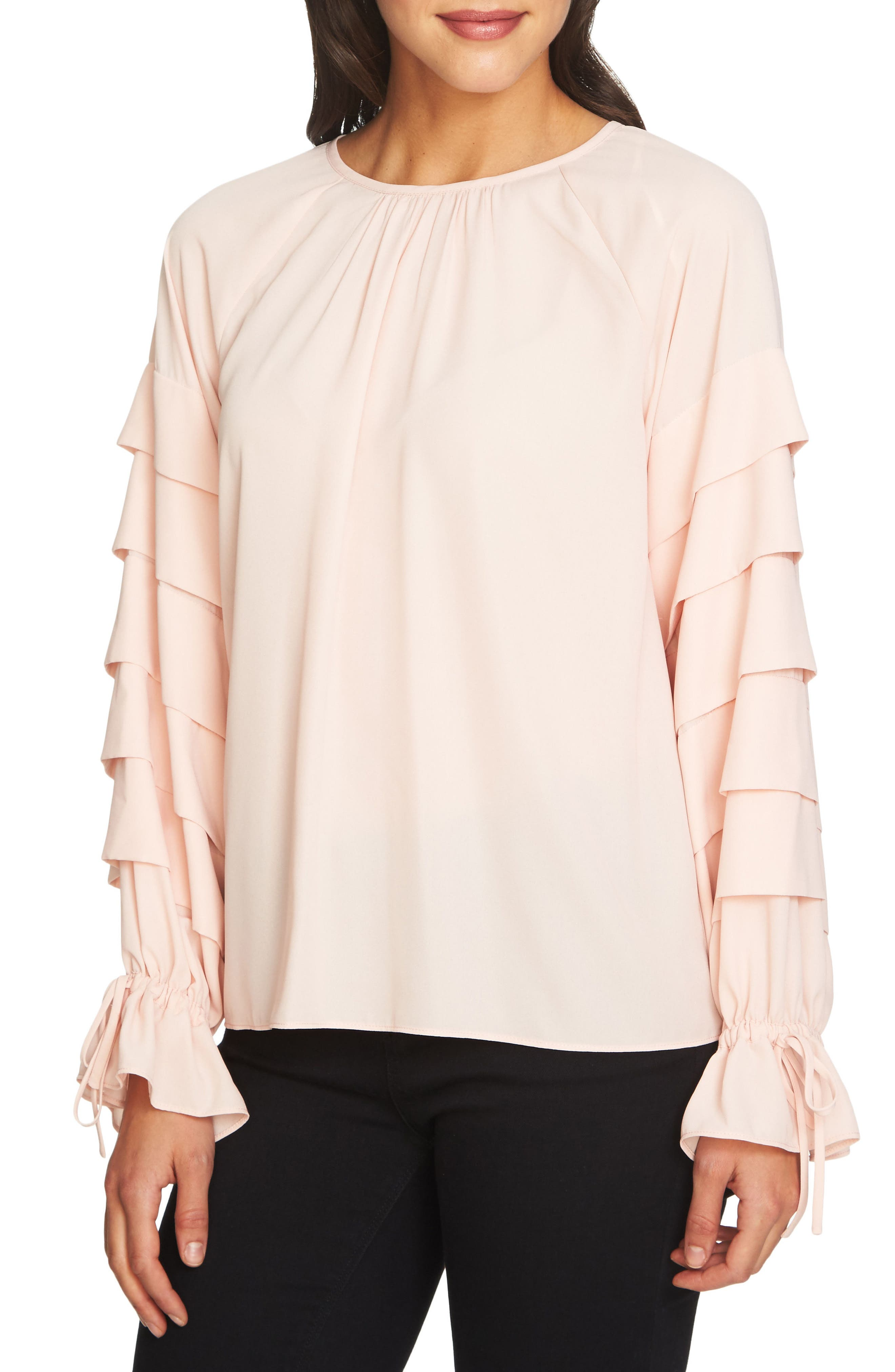 Tiered Sleeve Top,                             Main thumbnail 3, color,