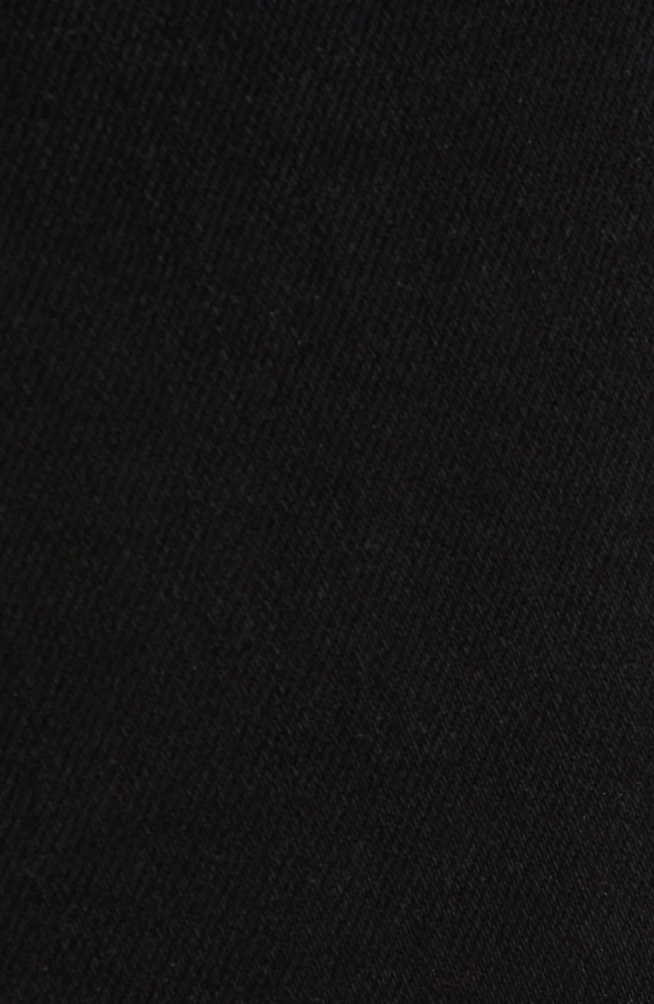 Bella Flare Jeans,                             Alternate thumbnail 5, color,                             BLACK