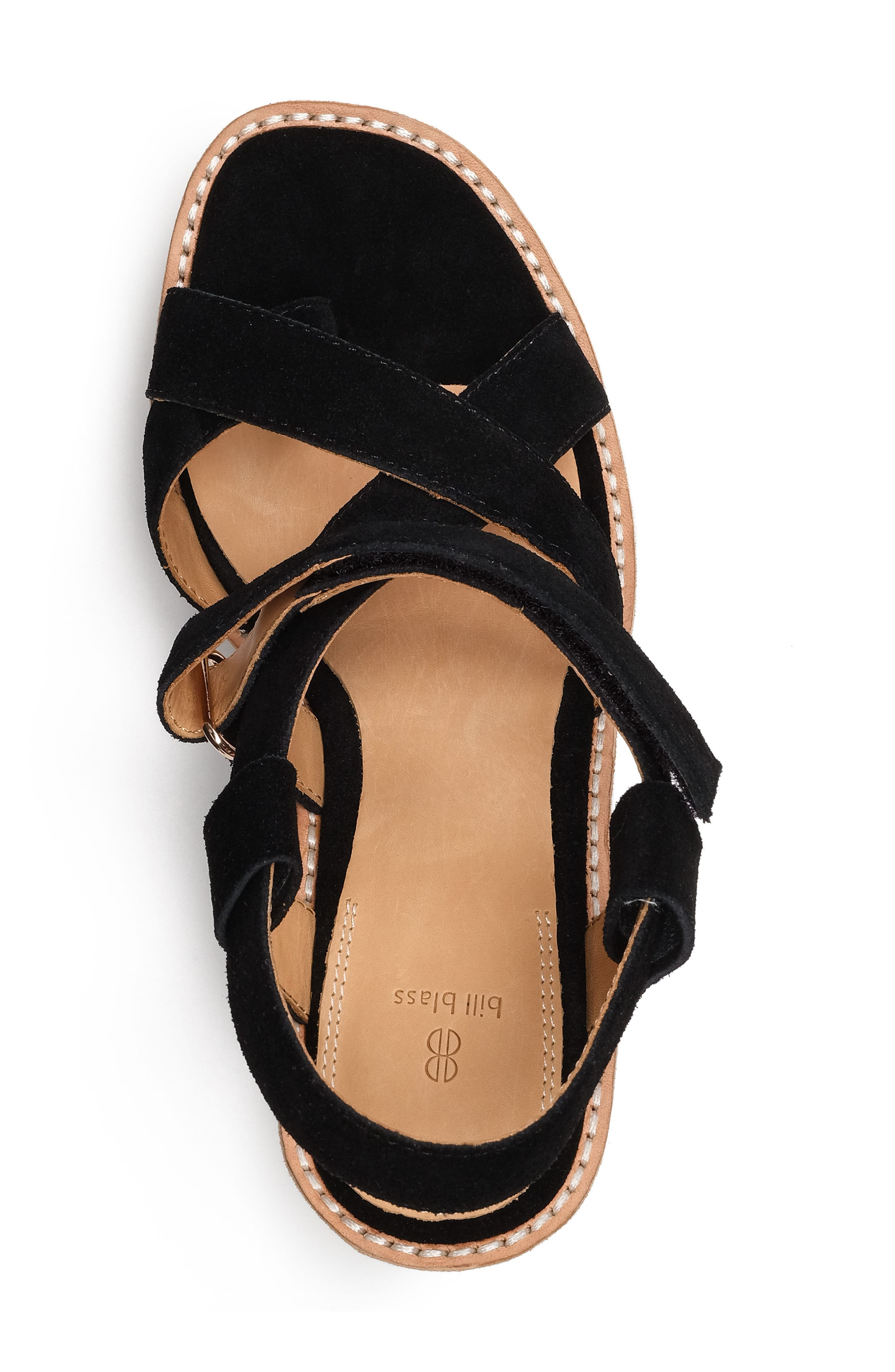 Rae Strappy Wedge Sandal,                             Alternate thumbnail 4, color,                             001