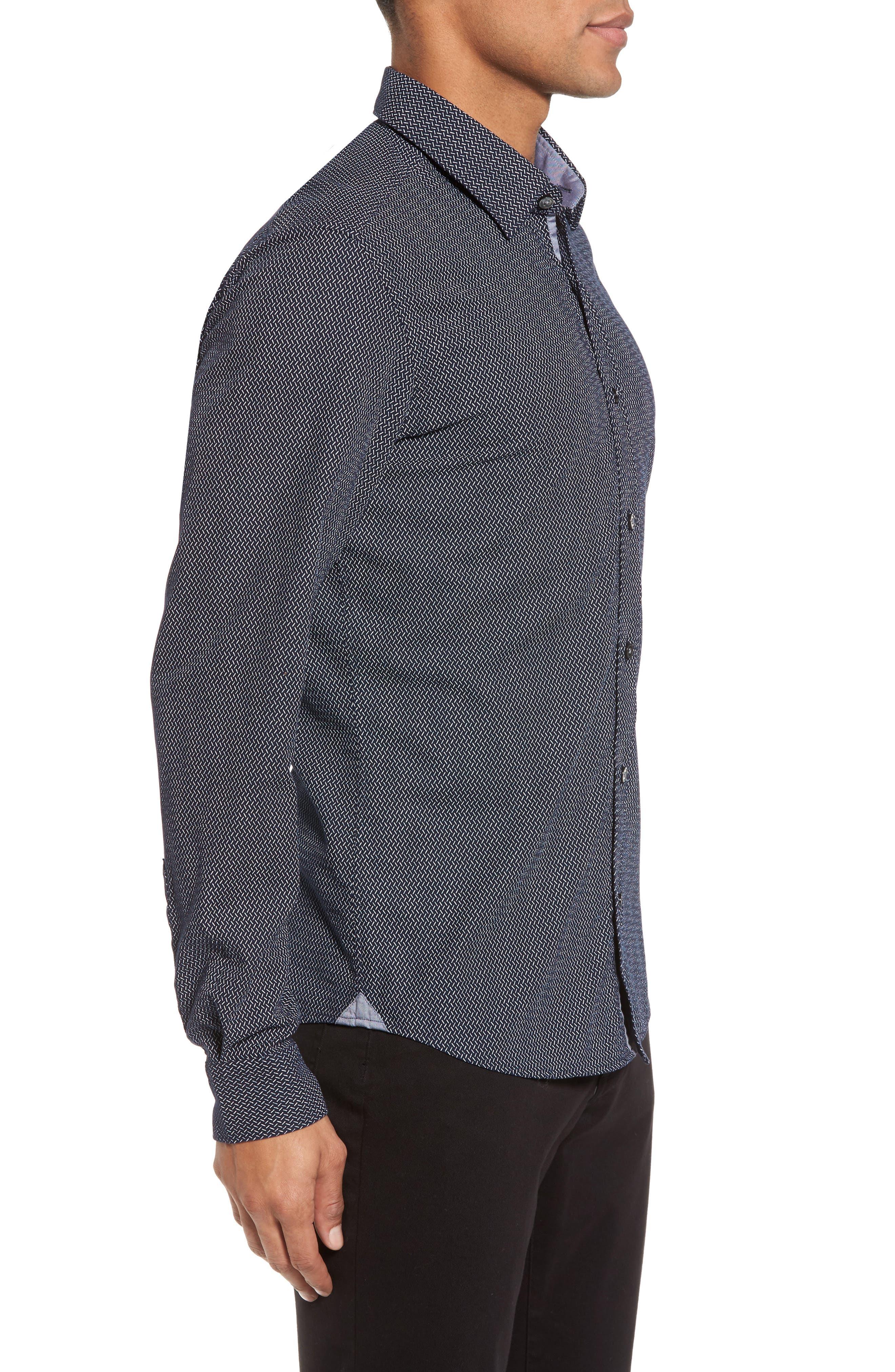 Lance Regular Fit Print Sport Shirt,                             Alternate thumbnail 3, color,                             410