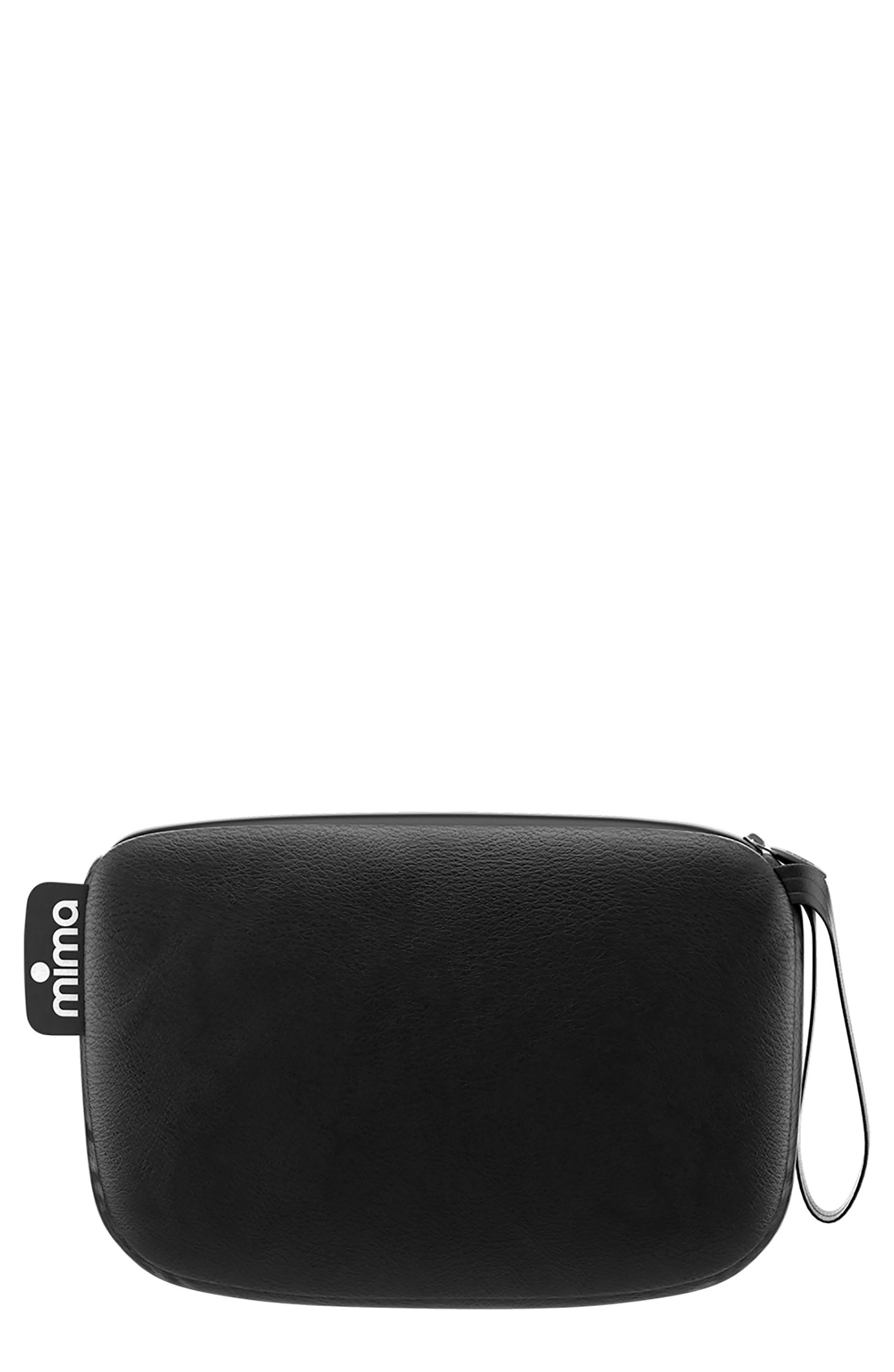 Faux Leather Clutch,                         Main,                         color, BLACK