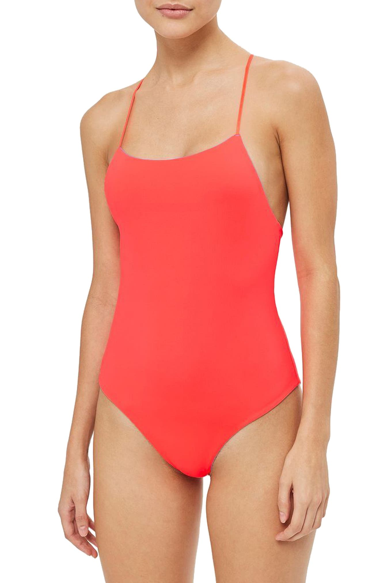 Reversible One-Piece Swimsuit,                             Alternate thumbnail 2, color,                             400